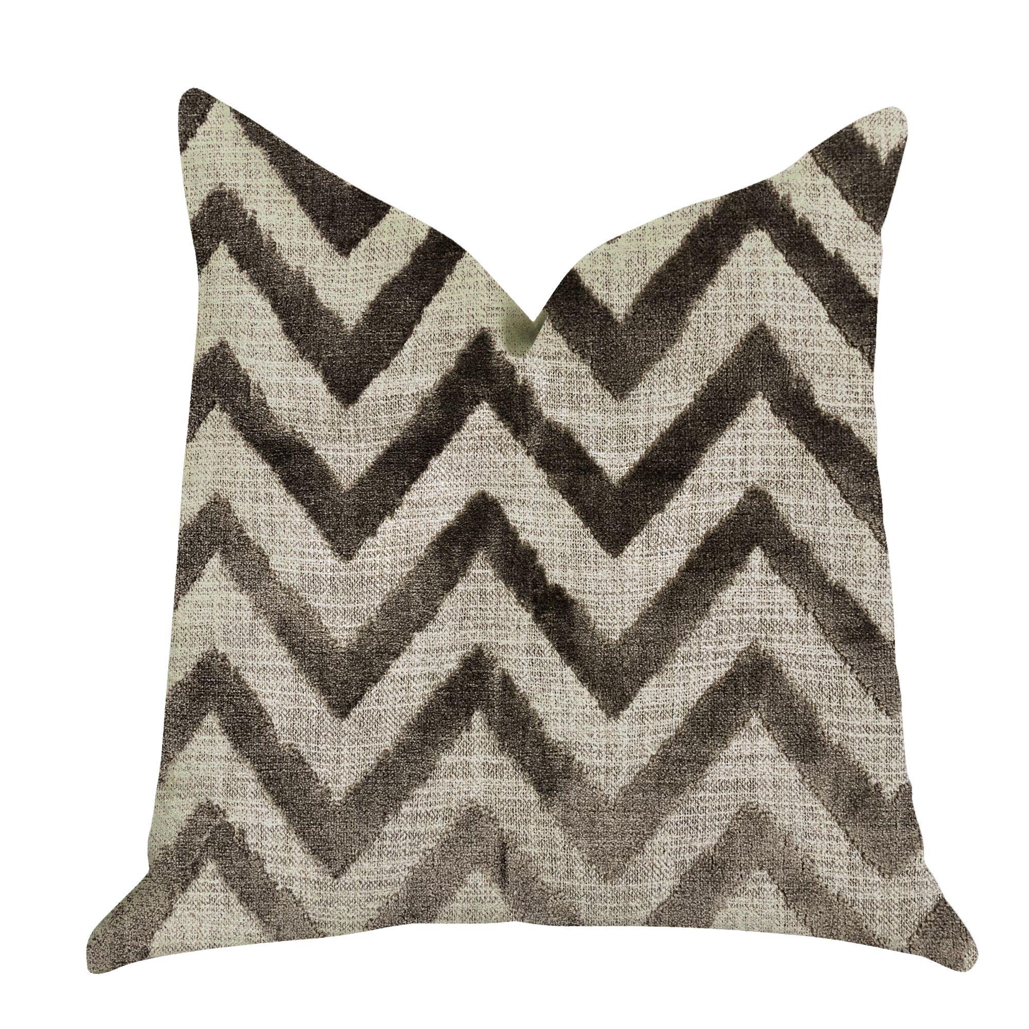 Demello Zigzag Luxury Pillow Size: 20