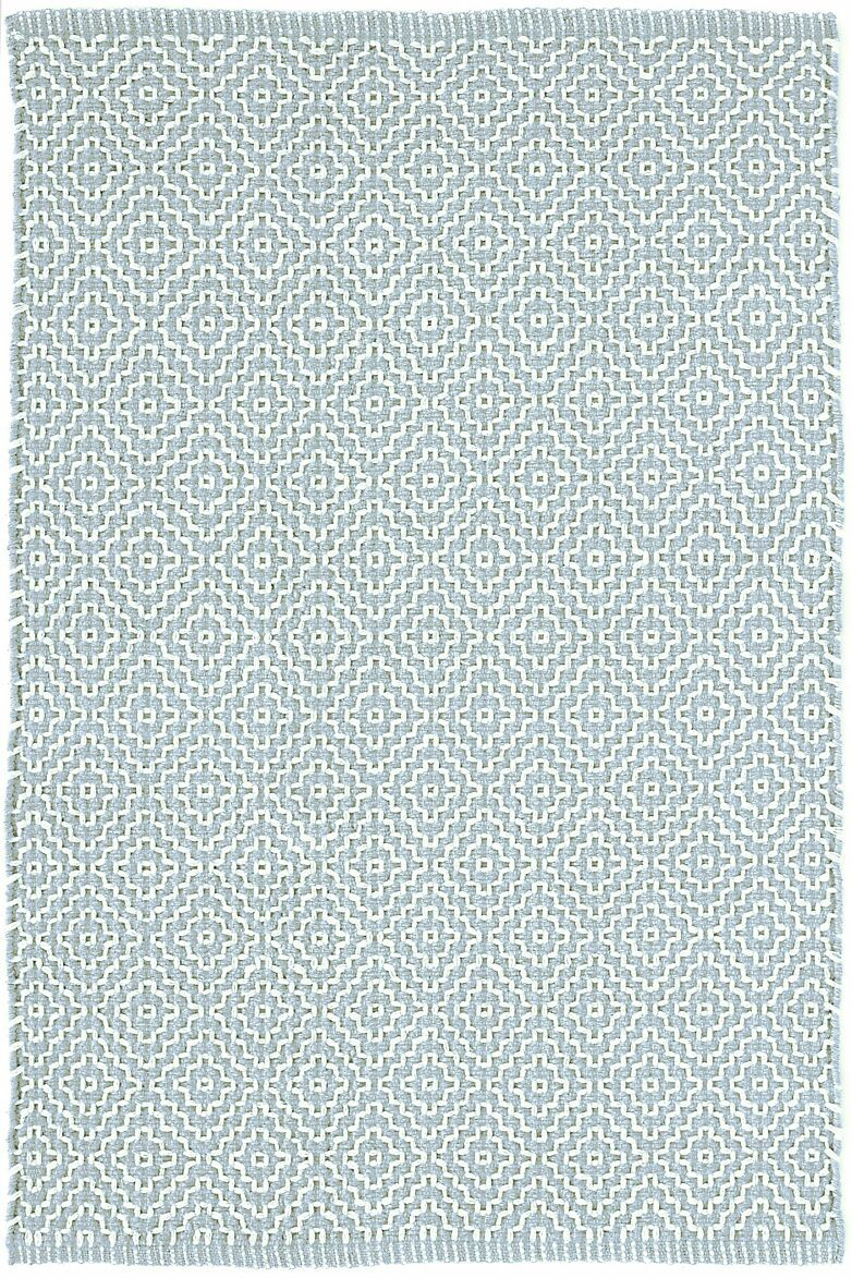 Beatrice Hand-Woven Cotton Blue Area Rug Rug Size: Rectangle 5' x 8'