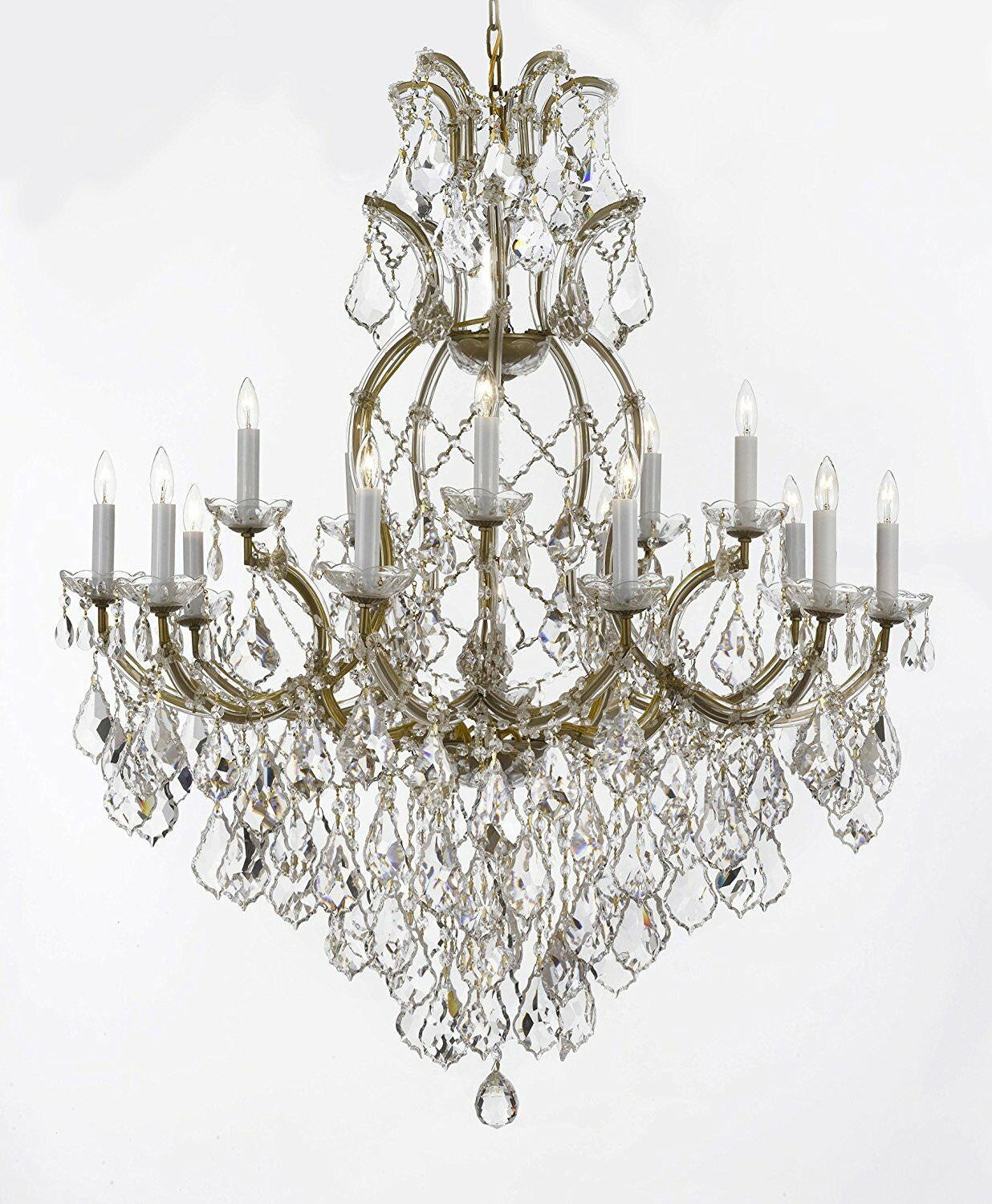 Dacia 16-Light Candle Style Chandelier Finish: Gold
