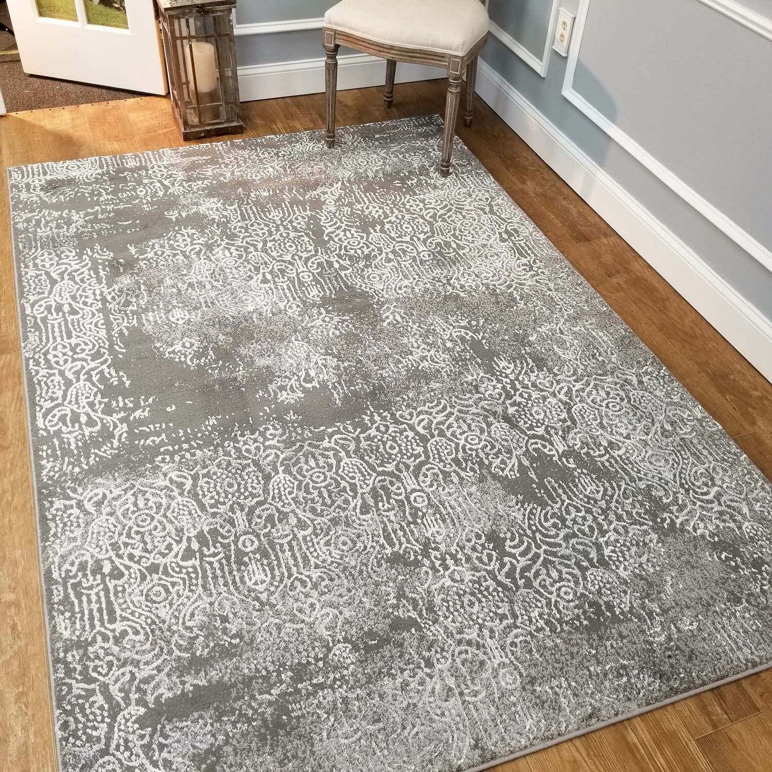 Wintergreen Silky Treasure Silver Area Rug Rug Size: Rectangle 8'2