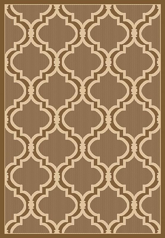 Vinton Brown Indoor/Outdoor Area Rug Rug Size: Rectangle 7'10