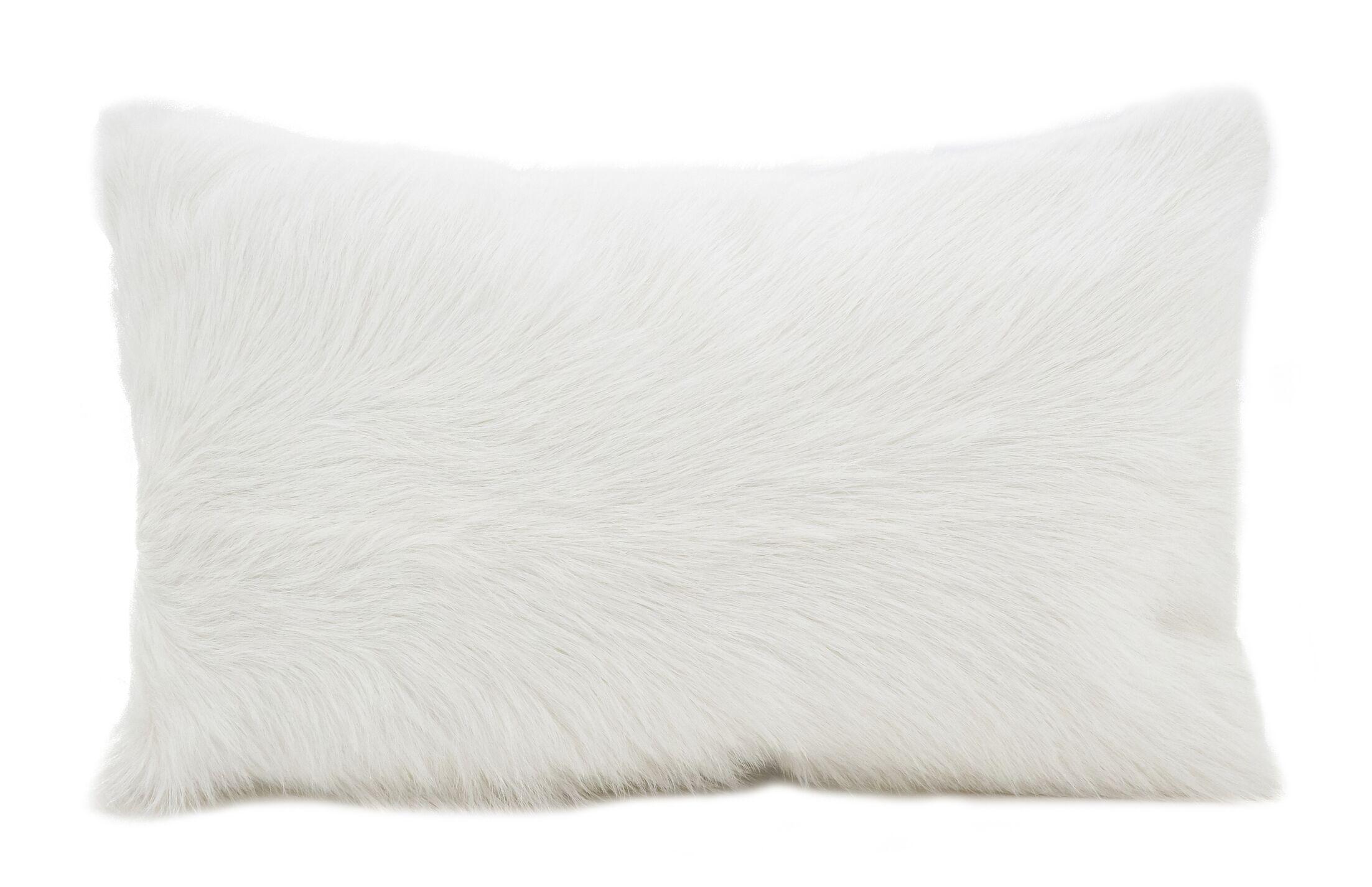 Oquinn Goat Fur Lumbar Pillow Color: Natural