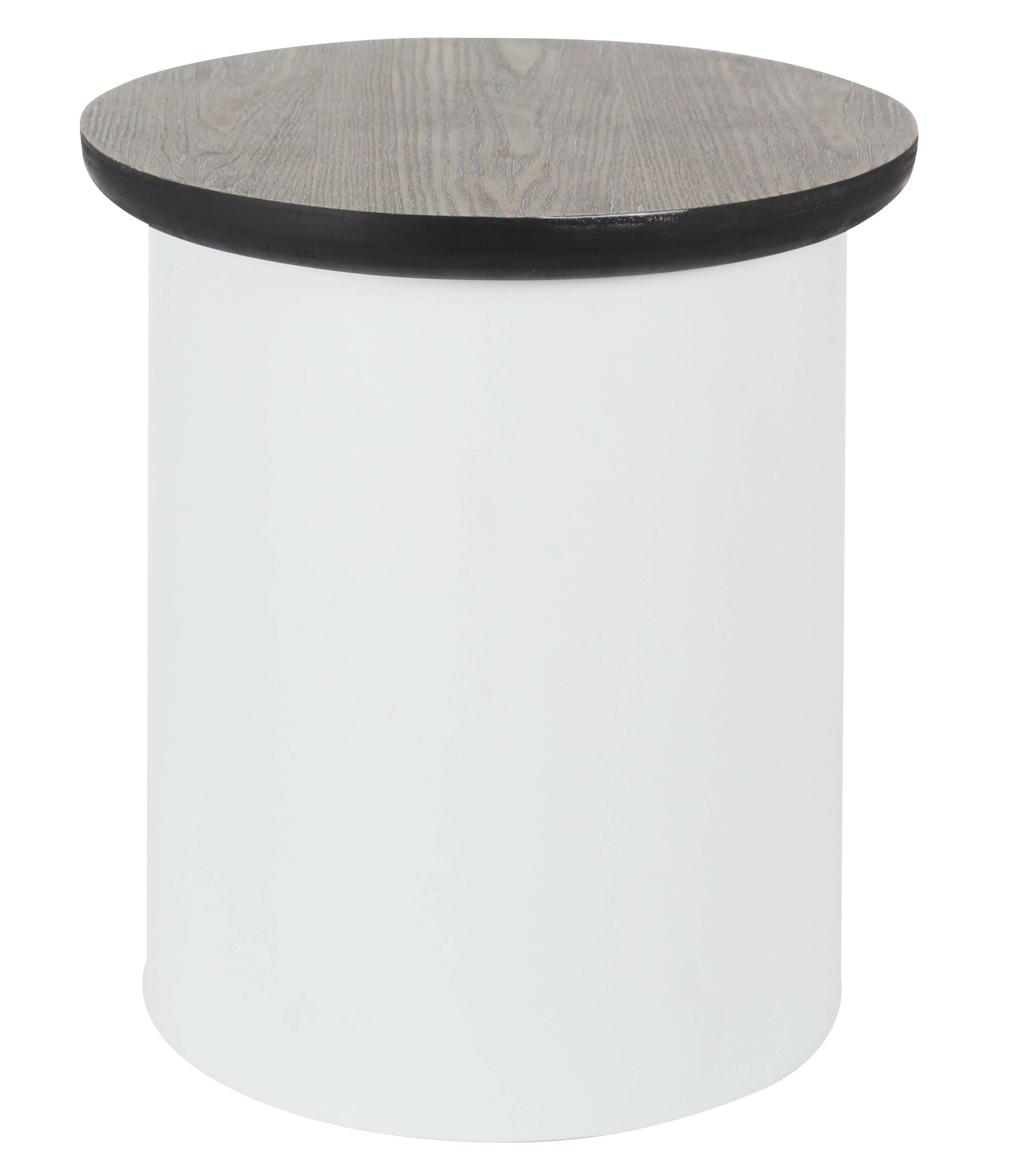 Osterley End Table with Storage Table Base Color: White