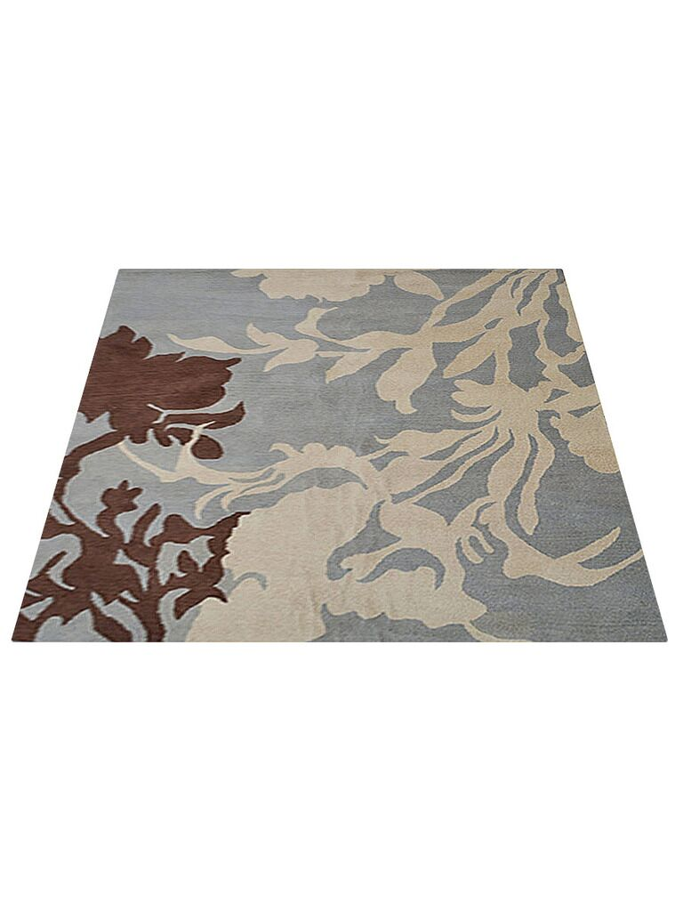 Smithton Hand-Tufted Wool Beige Area Rug Rug Size: Square 8'