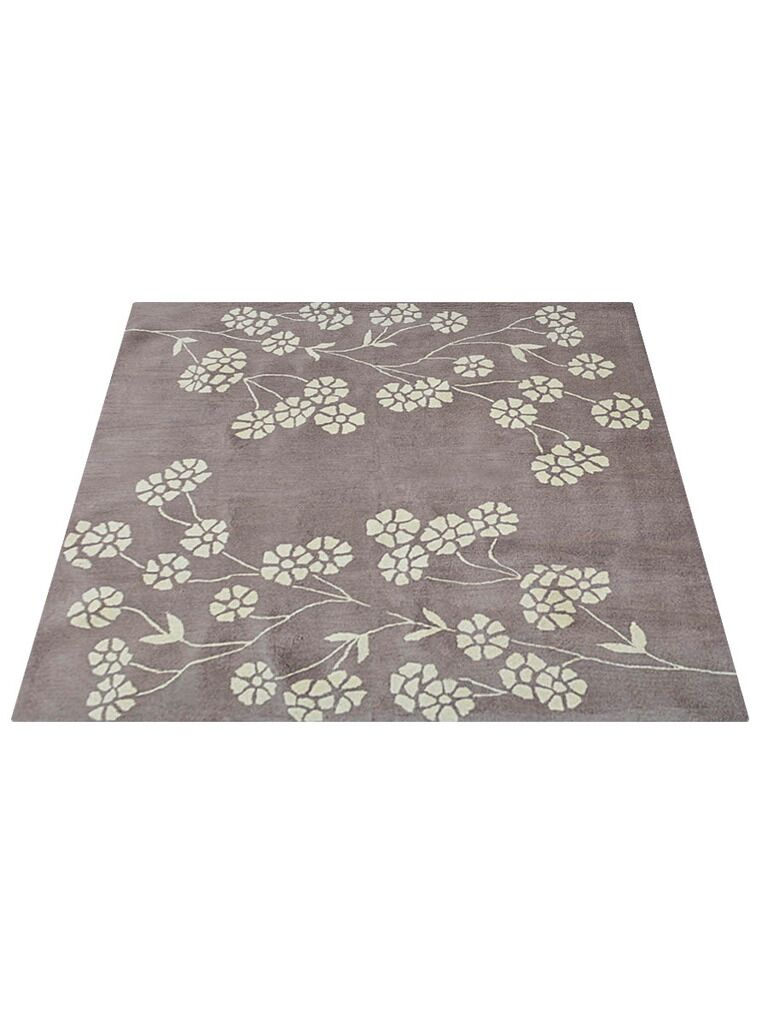 Smithton Hand-Tufted Wool Beige Area Rug Rug Size: Square 6'