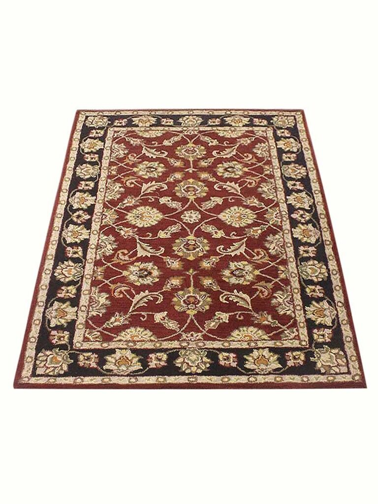 Selma Hand-Tufted Wool Red/Brown Area Rug Rug Size: Rectangle 6' x 9'