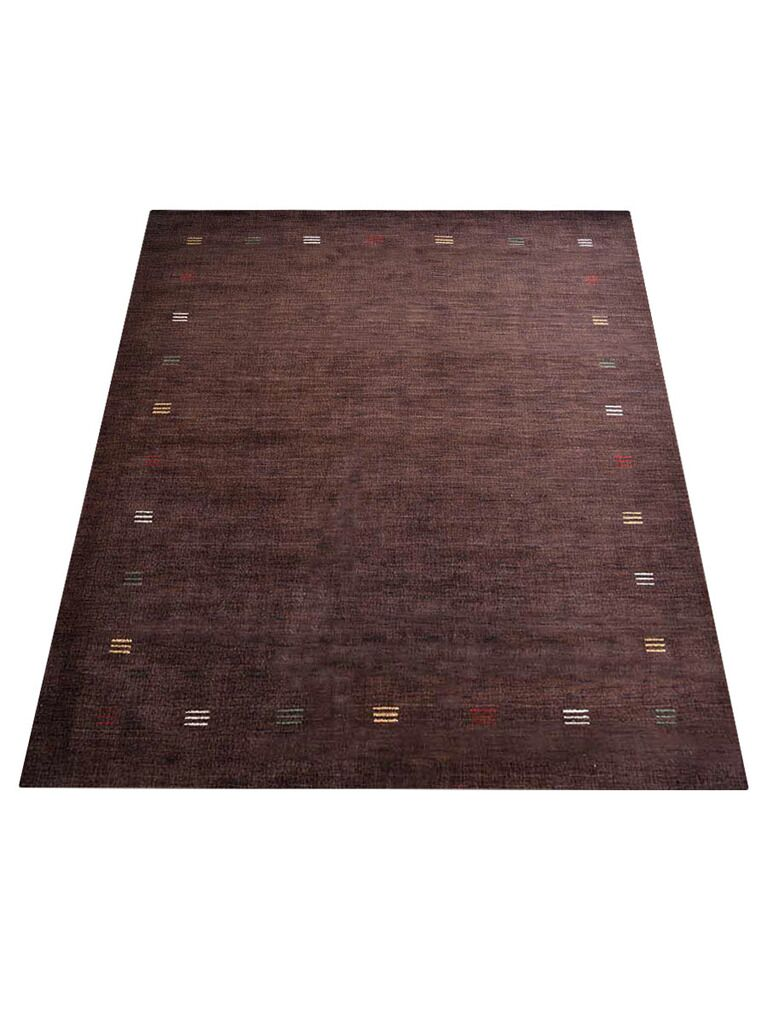 Ry Hand-Knotted Wool Brown Area Rug Rug Size: Rectangle 6' x 9'