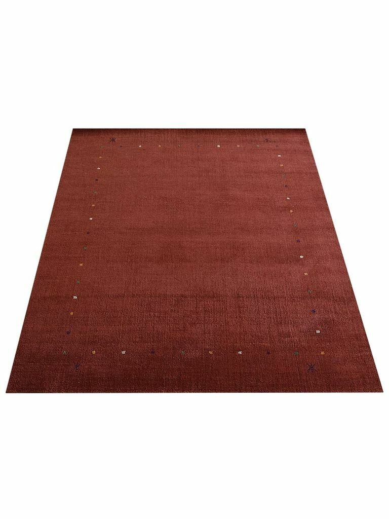 Ry Hand-Knotted Wool Brown Area Rug Rug Size: Rectangle 6'7'' x 9'10''
