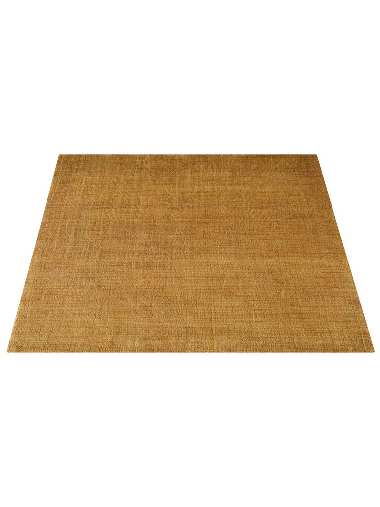 Ry Hand-Knotted Wool Gold Area Rug Rug Size: Square 10'
