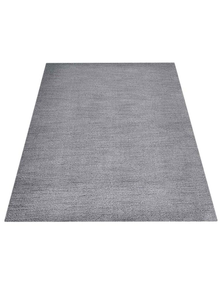 Ry Hand-Knotted Wool Gray Area Rug Rug Size: Rectangle 5' x 8'