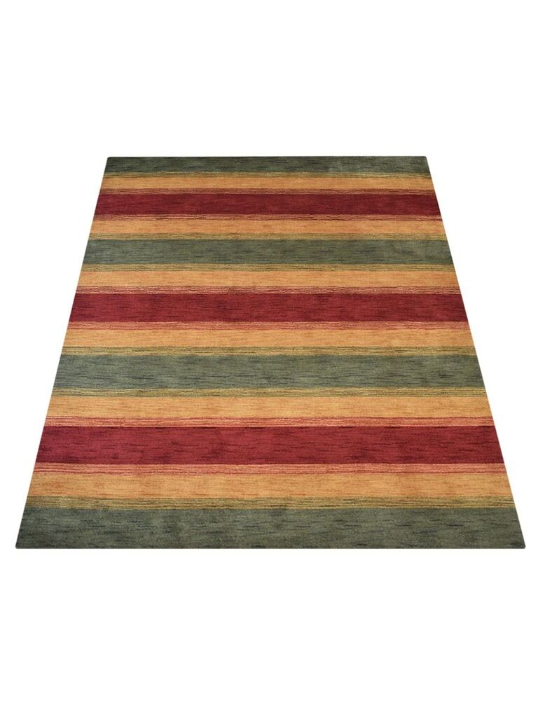 Ry Hand-Tufted Wool Green/Gold Area Rug Rug Size: Rectangle 5' x 8'
