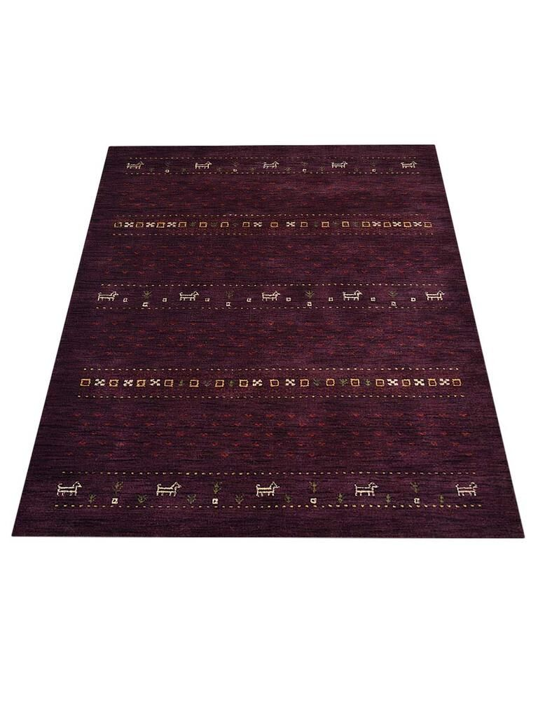 St Catherine Hand-Knotted Wool Purple Area Rug