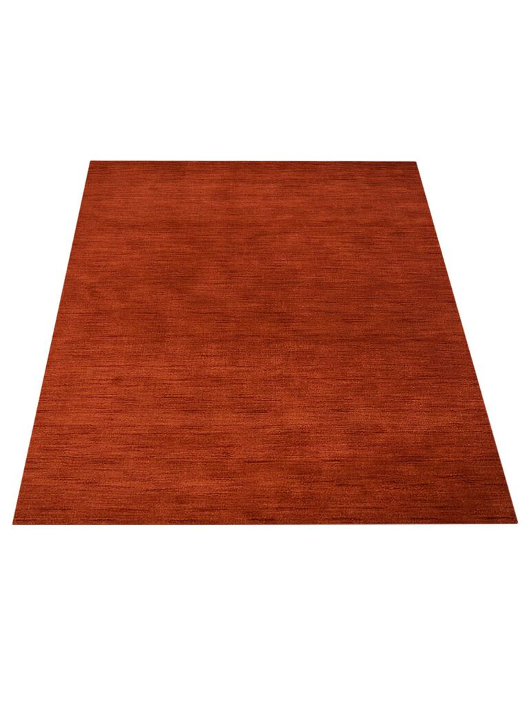 Ry Hand-Knotted Wool Red Area Rug Rug Size: Rectangle 8' x 11'