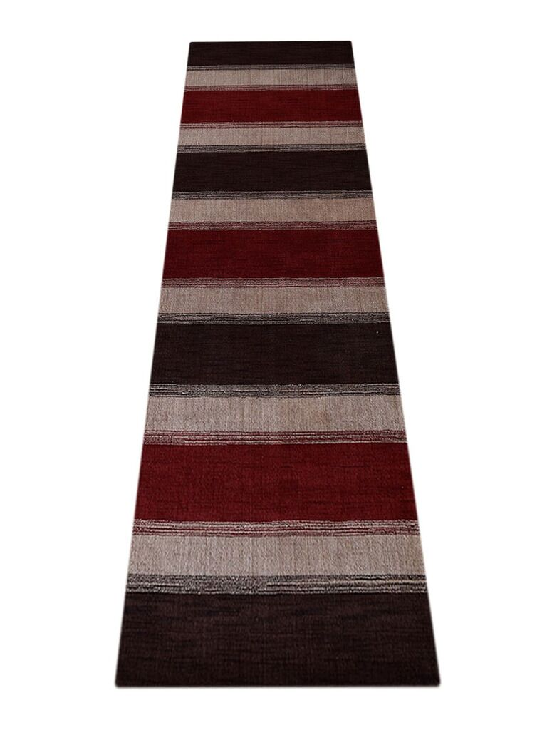 Ry Hand-Knotted Wool Brown/Red Area Rug