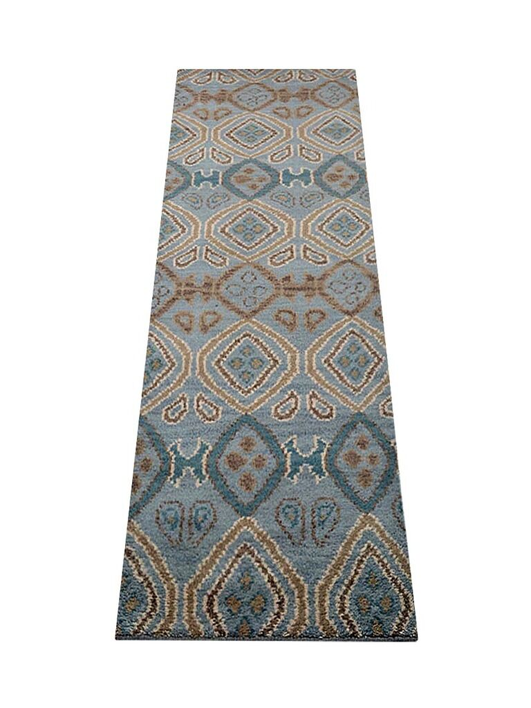 Cozette Hand-Tufted Wool Light Blue Area Rug