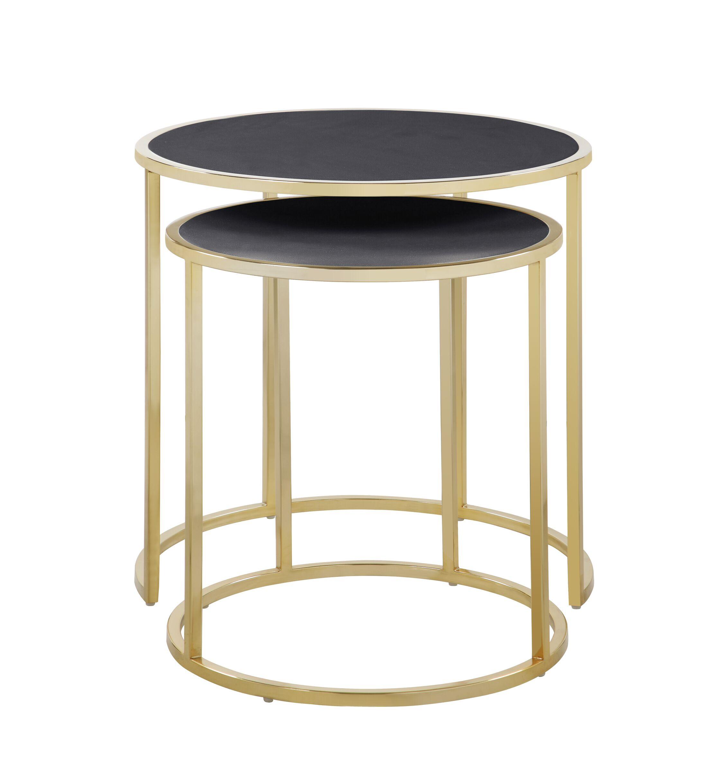 Flemingdon 2 Piece Nesting Tables Table Top Color: Black