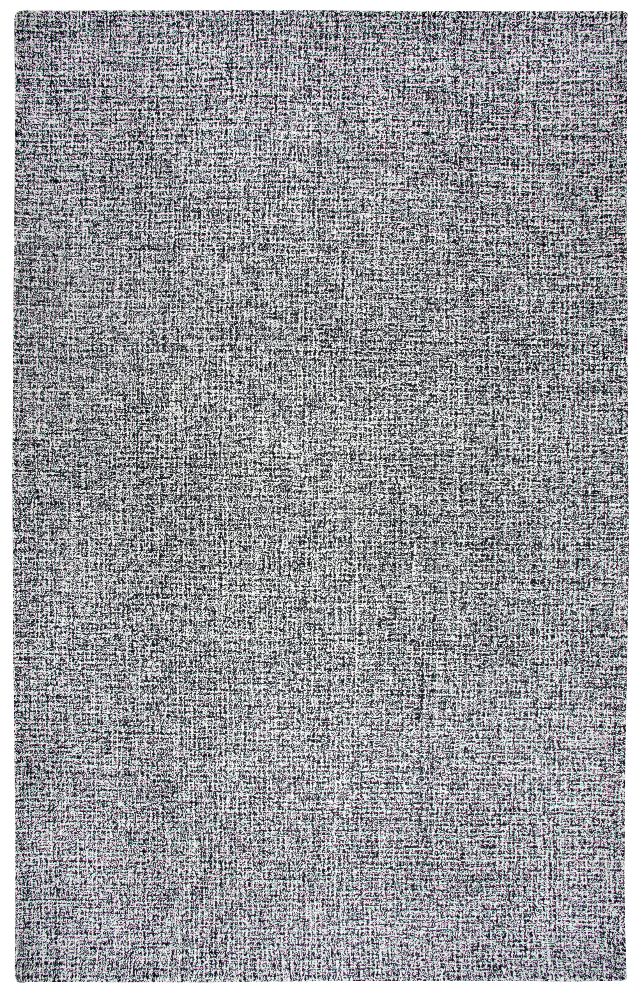 Marsh Hand-Tufted Wool Black/White Area Rug Rug Size: Rectangle 5' x 8'