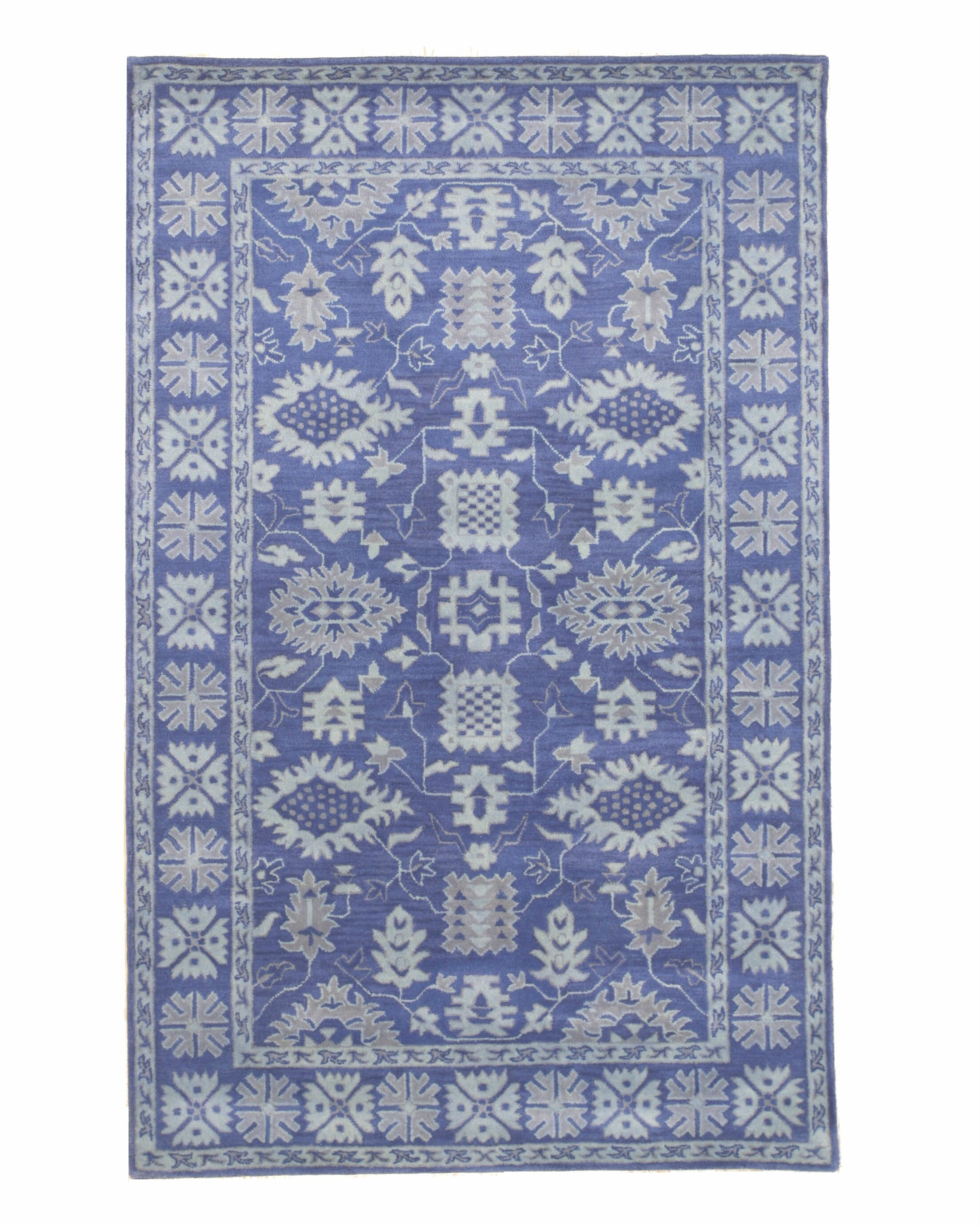 Montville Traditional Oriental Overdyed Hand-Tufted Wool Blue Area Rug Rug Size: Rectangle 8'9