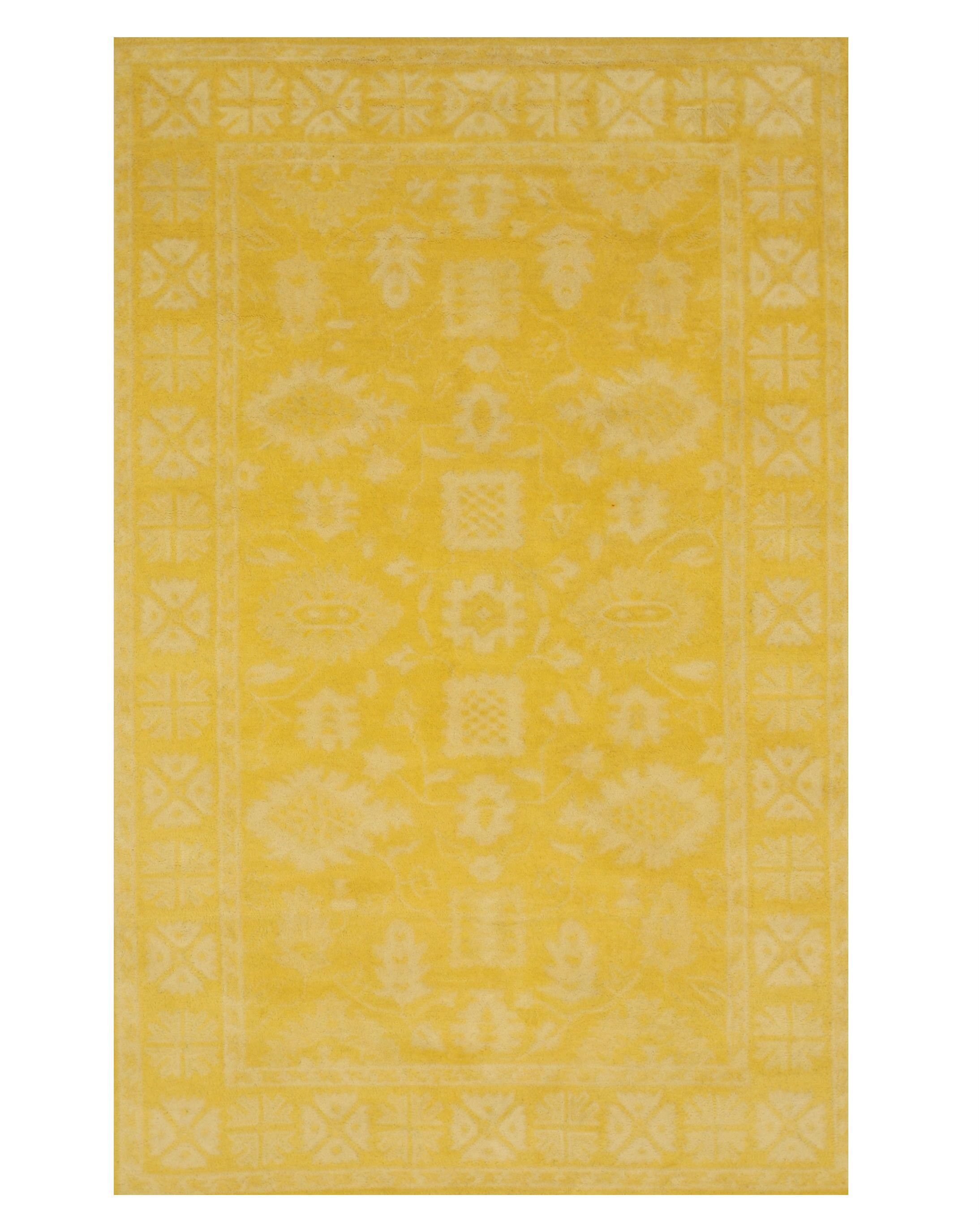 Bachmann Traditional Oriental Overdyed Hand-Tufted Wool Yellow Area Rug Rug Size: Rectangle 7'9