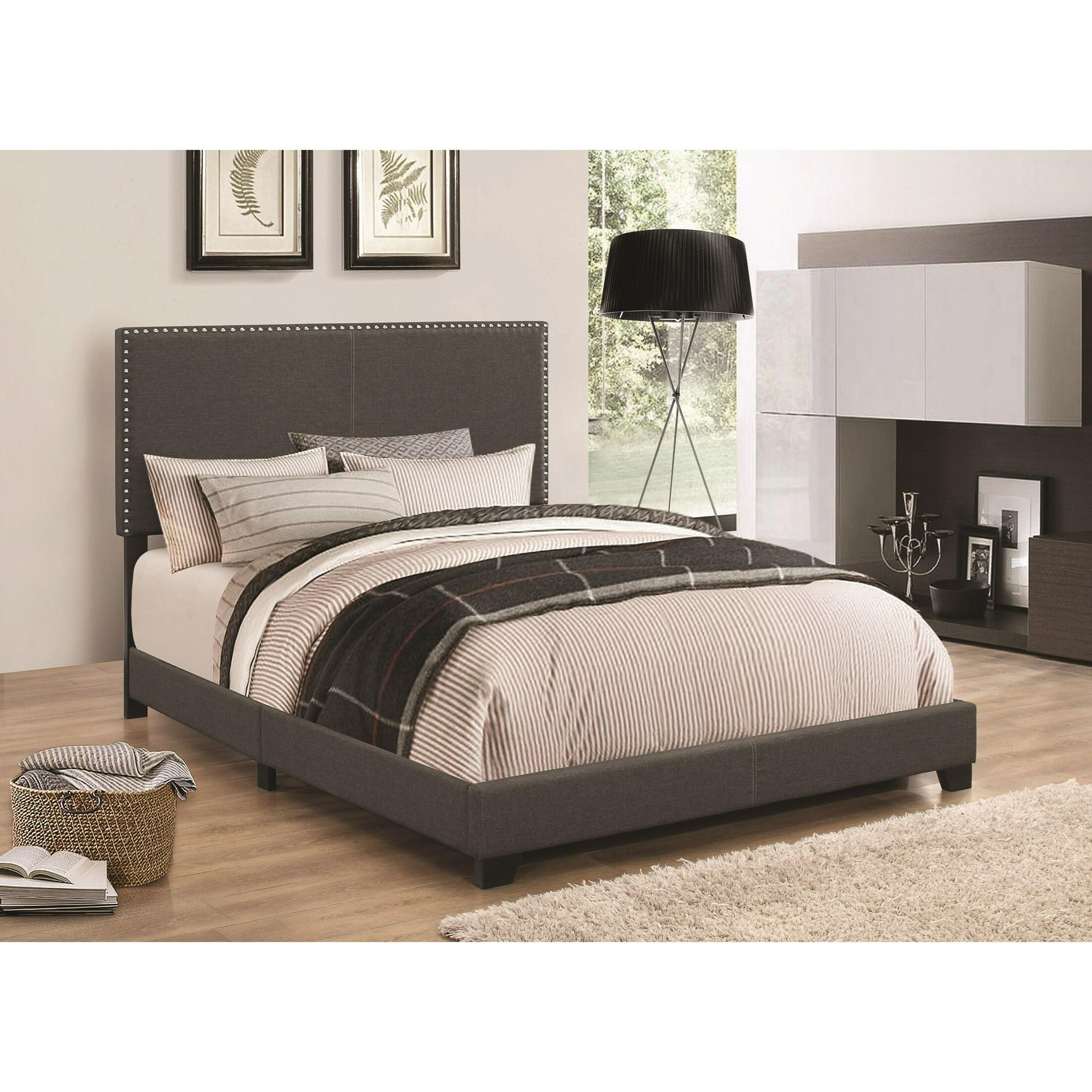 Kenworthy Upholstered Sleigh Bed Size: California King, Color: Espresso