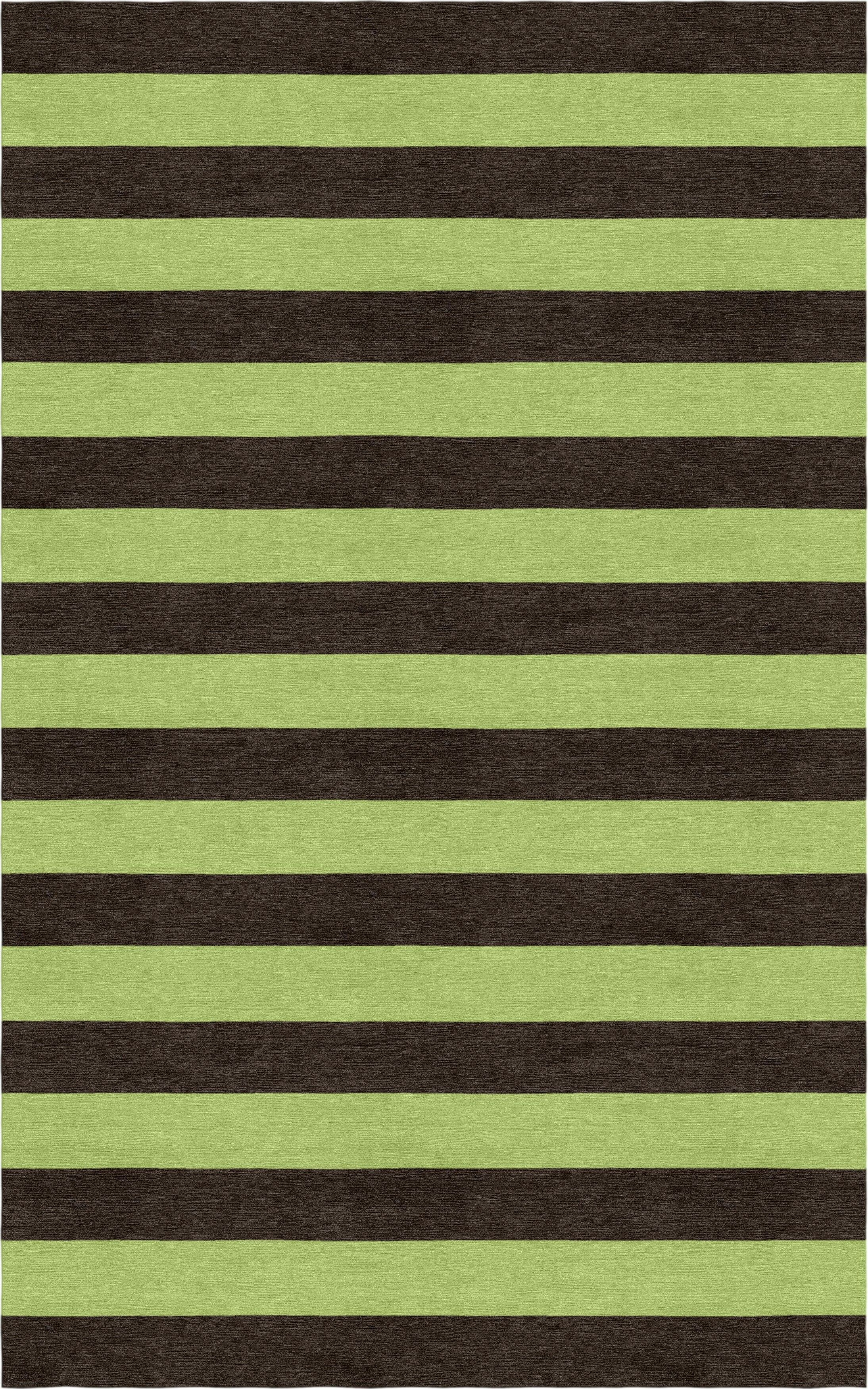 Suggs Stripe Hand-Tufted Wool Brown/Green Area Rug Rug Size: Rectangle 6' x 9'