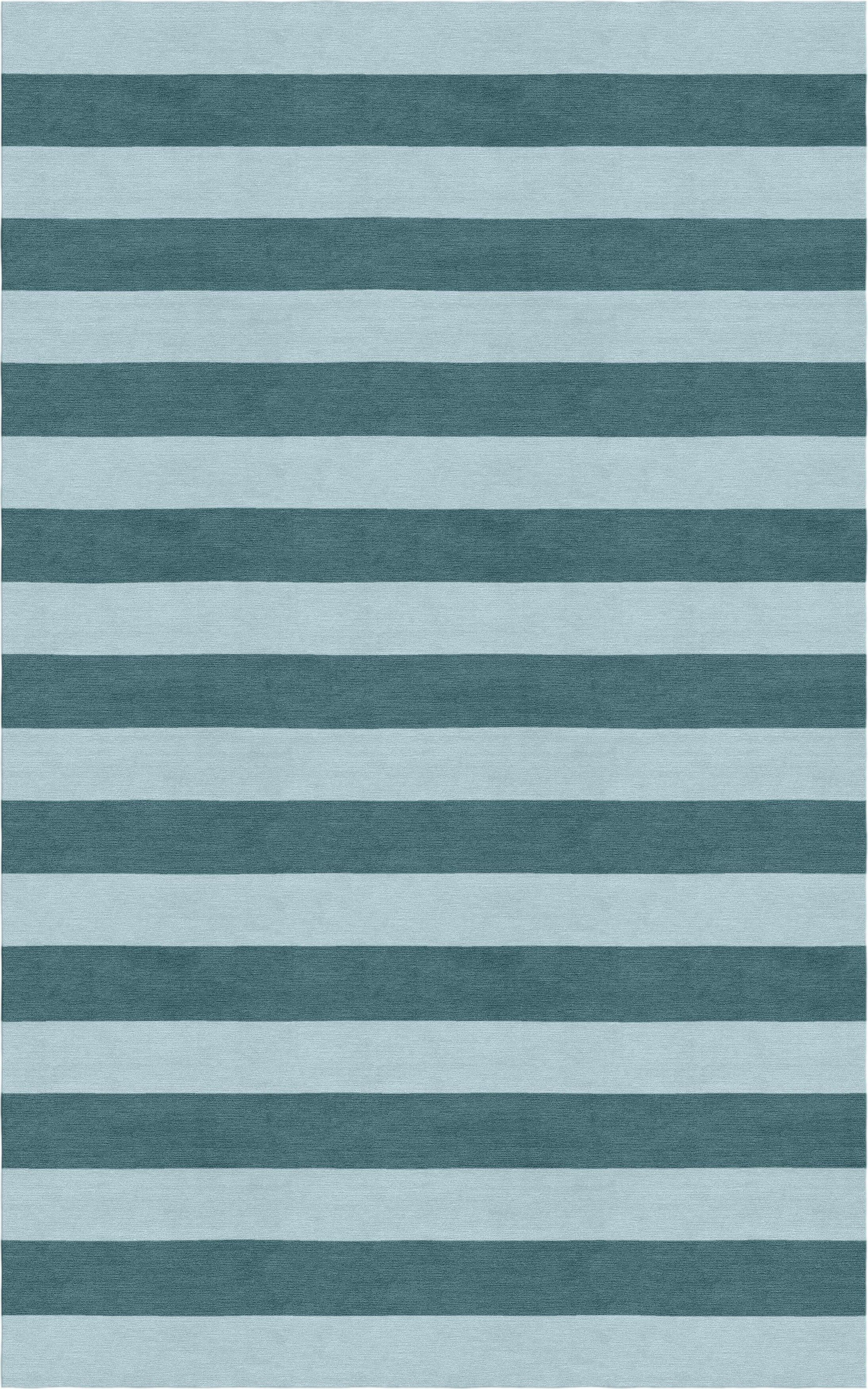 Lastra Stripe Hand-Tufted Wool Light Blue/Gray Area Rug Rug Size: Rectangle 5' x 8'