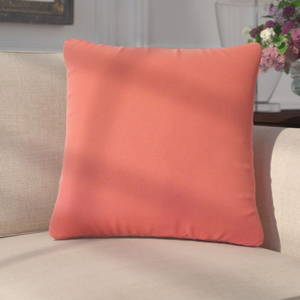 Dolla Solid Down Filled 100% Cotton Throw Pillow Size: 24