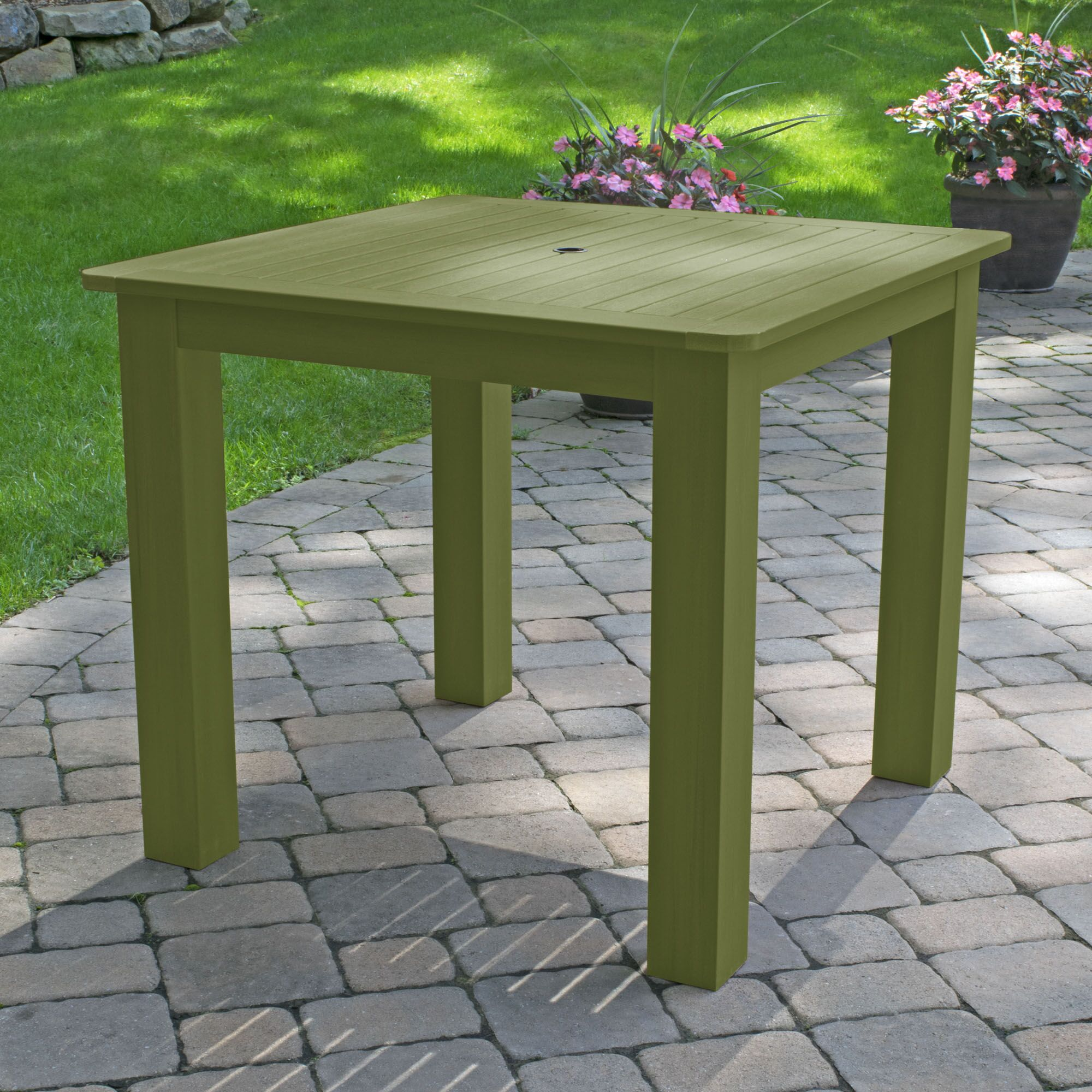 Thiago Plastic Dining Table Color: Dried Sage