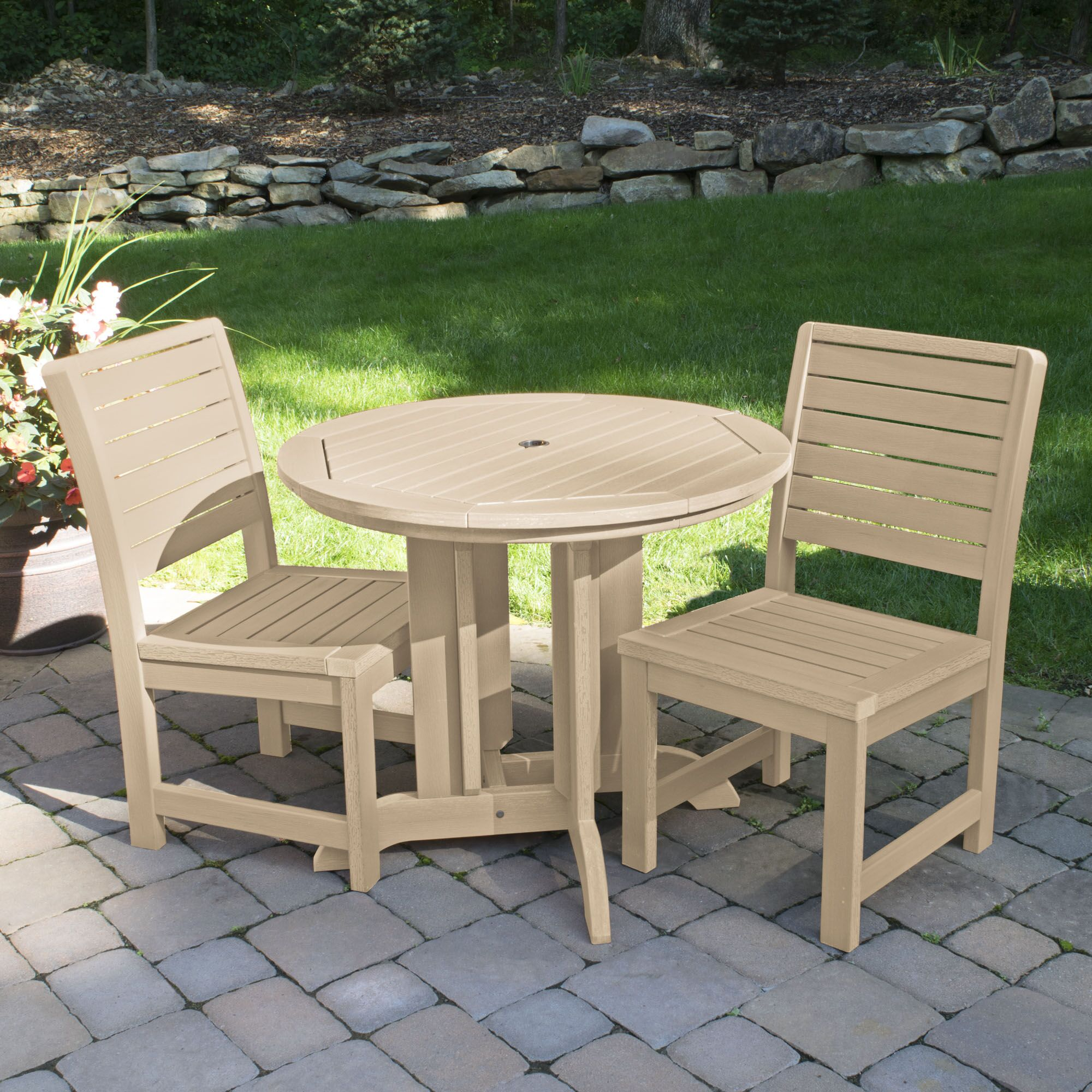 Berry 3 Piece Bistro Set Color: Tuscan Taupe