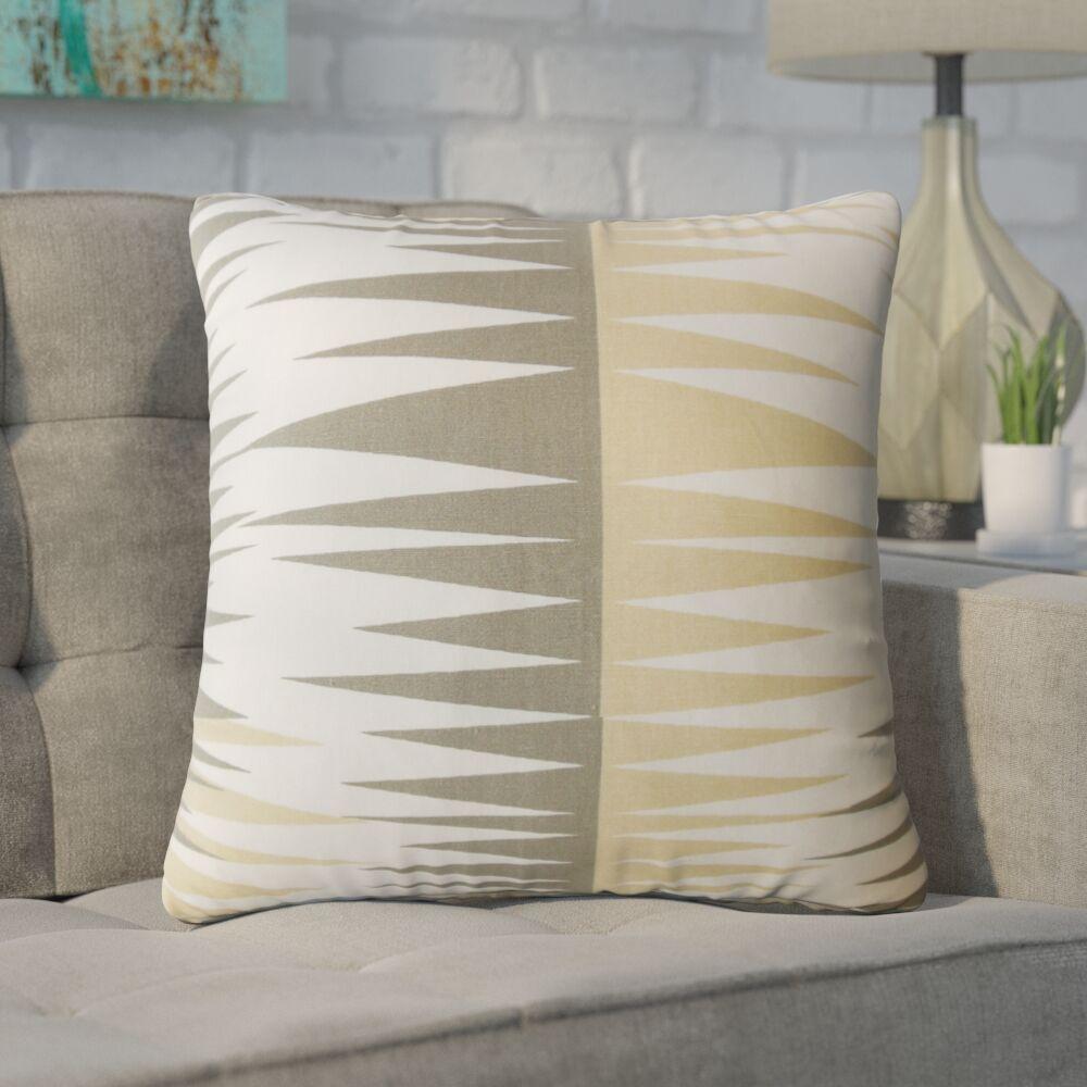 Wetzel Geometric Down Filled 100% Cotton Throw Pillow Size: 24