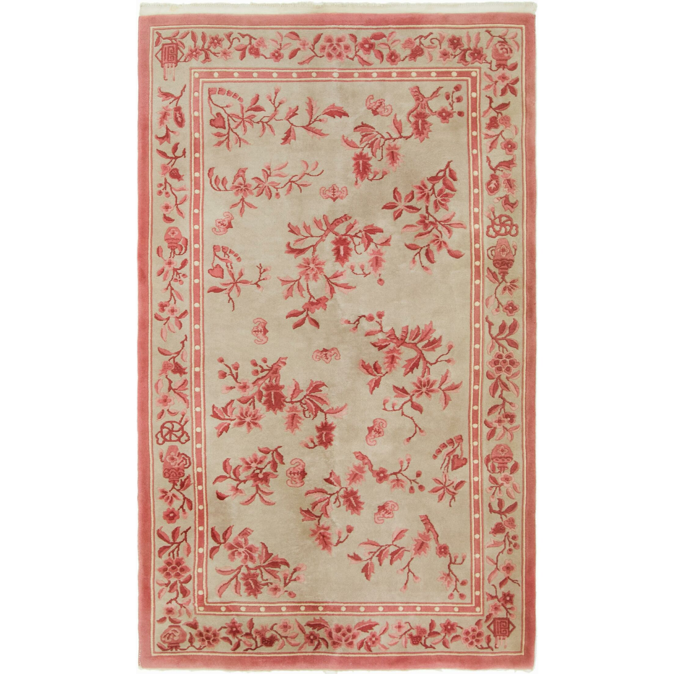 One-of-a-Kind Isamar Antique Hand-Knotted Wool Beige/Pink Area Rug