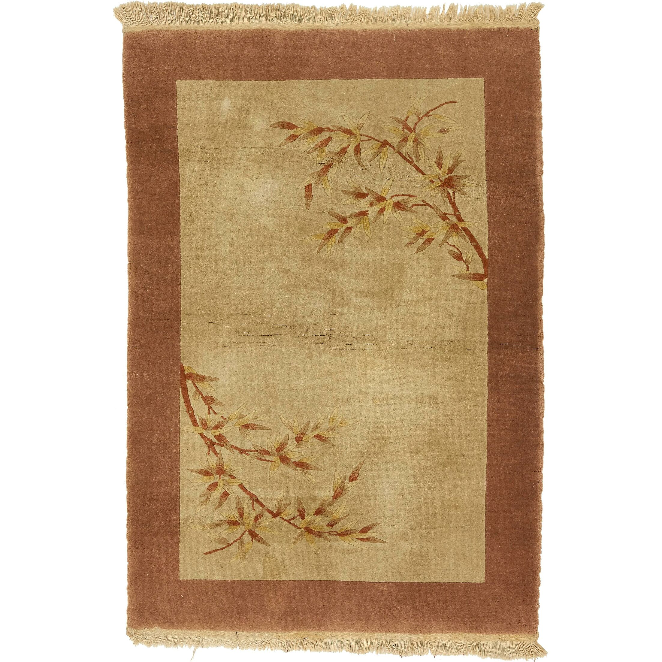One-of-a-Kind Lavada Antique Hand-Knotted Beige/Brown Area Rug