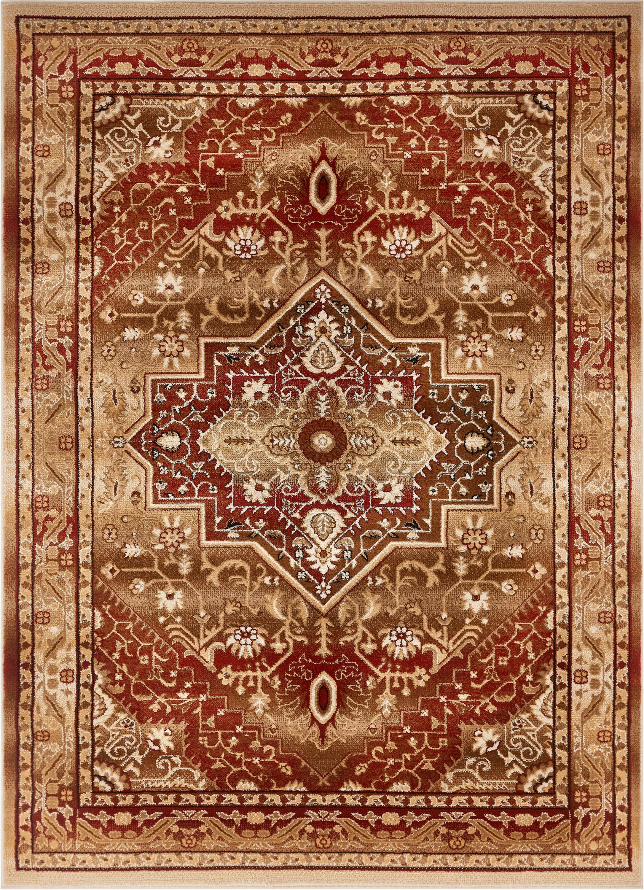 Marone Traditional Medallion Red Area Rug Rug Size: Rectangle 5'3
