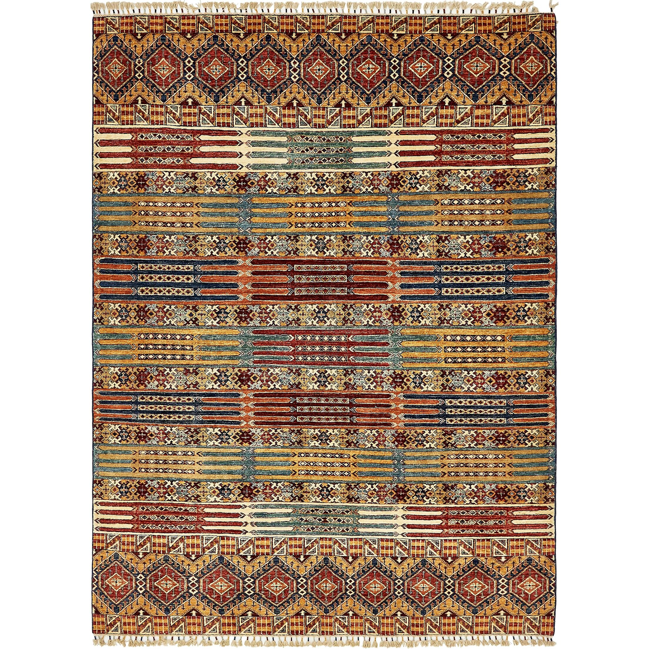 One-of-a-Kind Denver Hand-Knotted Wool Brown/Red Area Rug