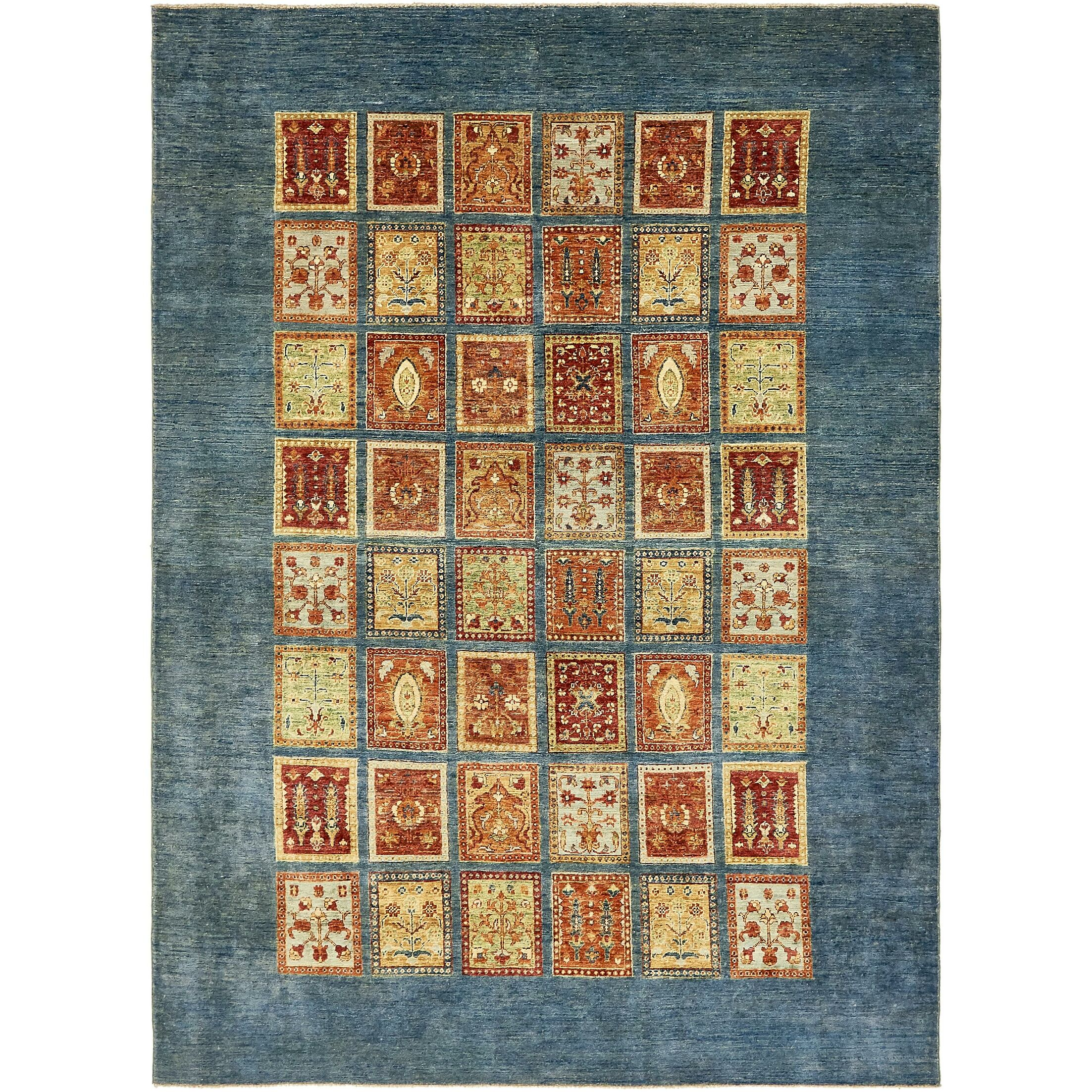 One-of-a-Kind Denver Hand-Knotted Wool Blue Area Rug