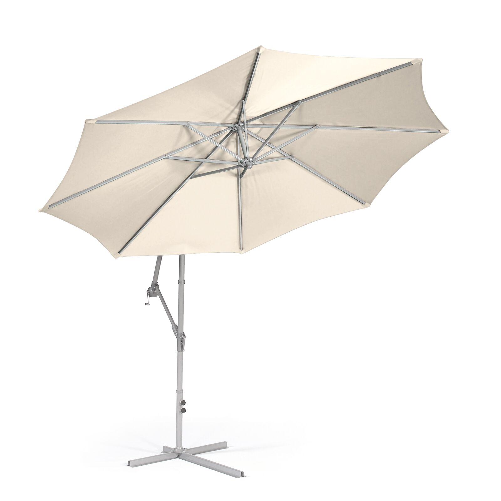 Kawamura Hanging Crank 9.8' Market Umbrella Fabric Color: Beige