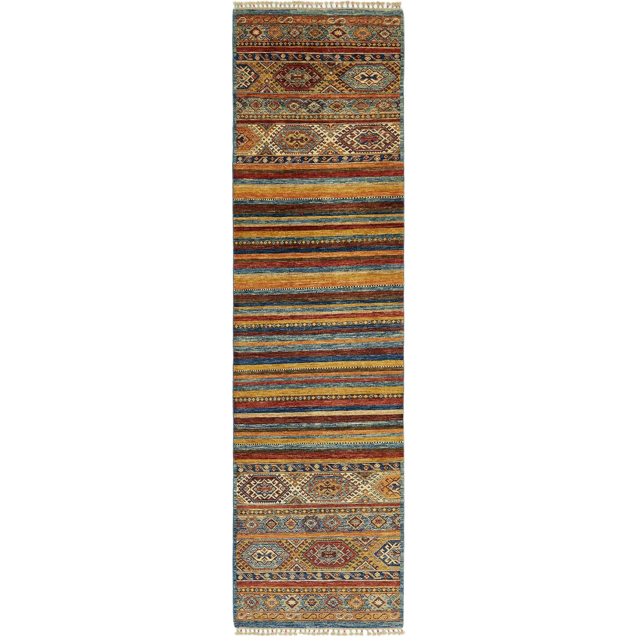 One-of-a-Kind Denver Hand-Knotted Wool Beige/Blue Area Rug