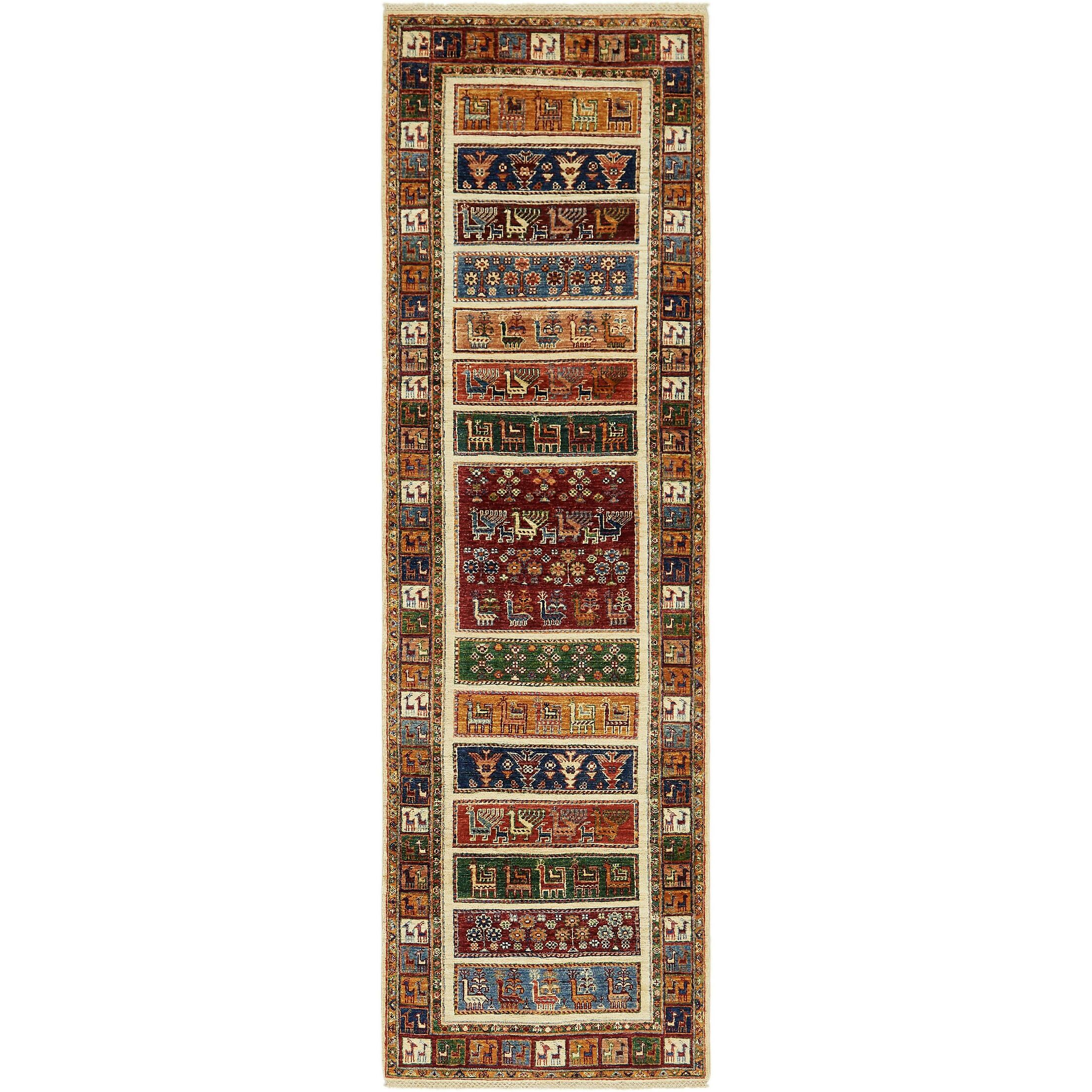 One-of-a-Kind Denver Hand-Knotted Wool Cream/Brown Area Rug