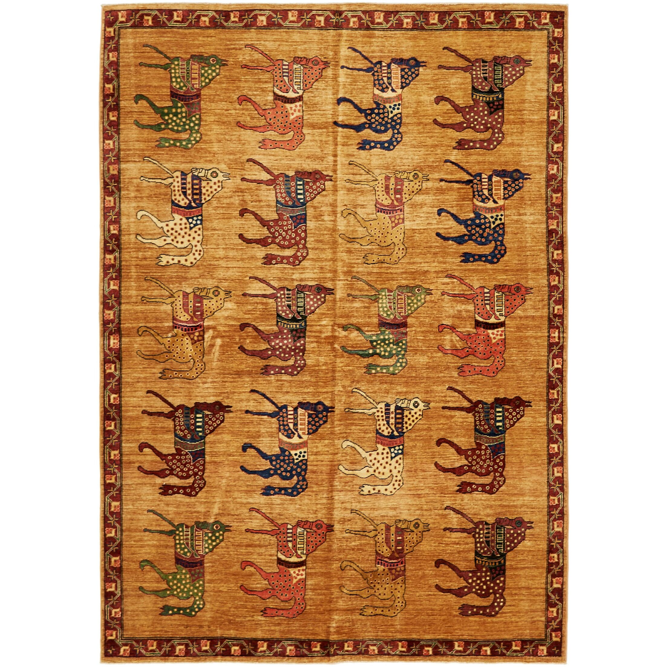 One-of-a-Kind Denver Hand-Knotted Wool Tan Area Rug