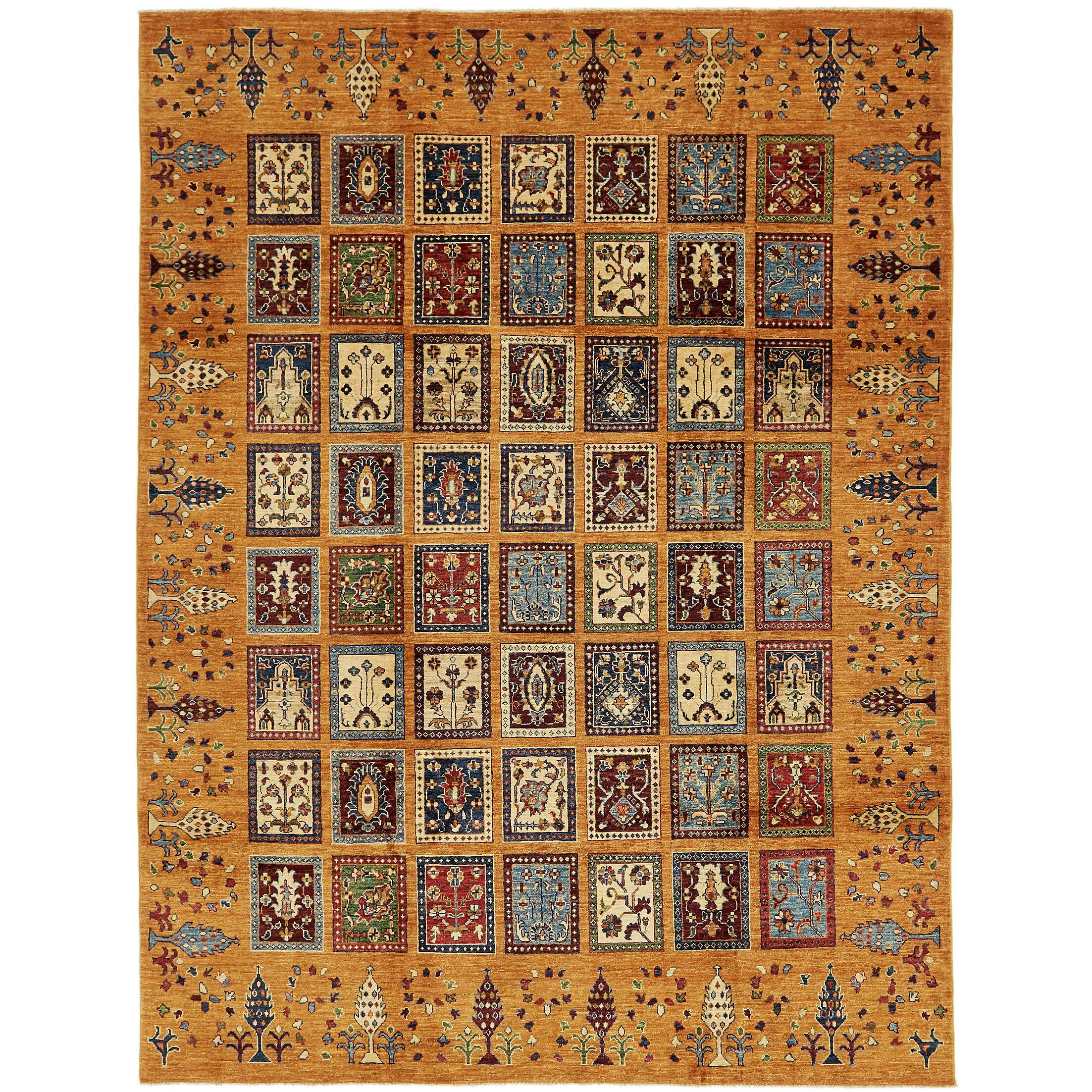 One-of-a-Kind Denver Hand-Knotted Wool Orange Area Rug