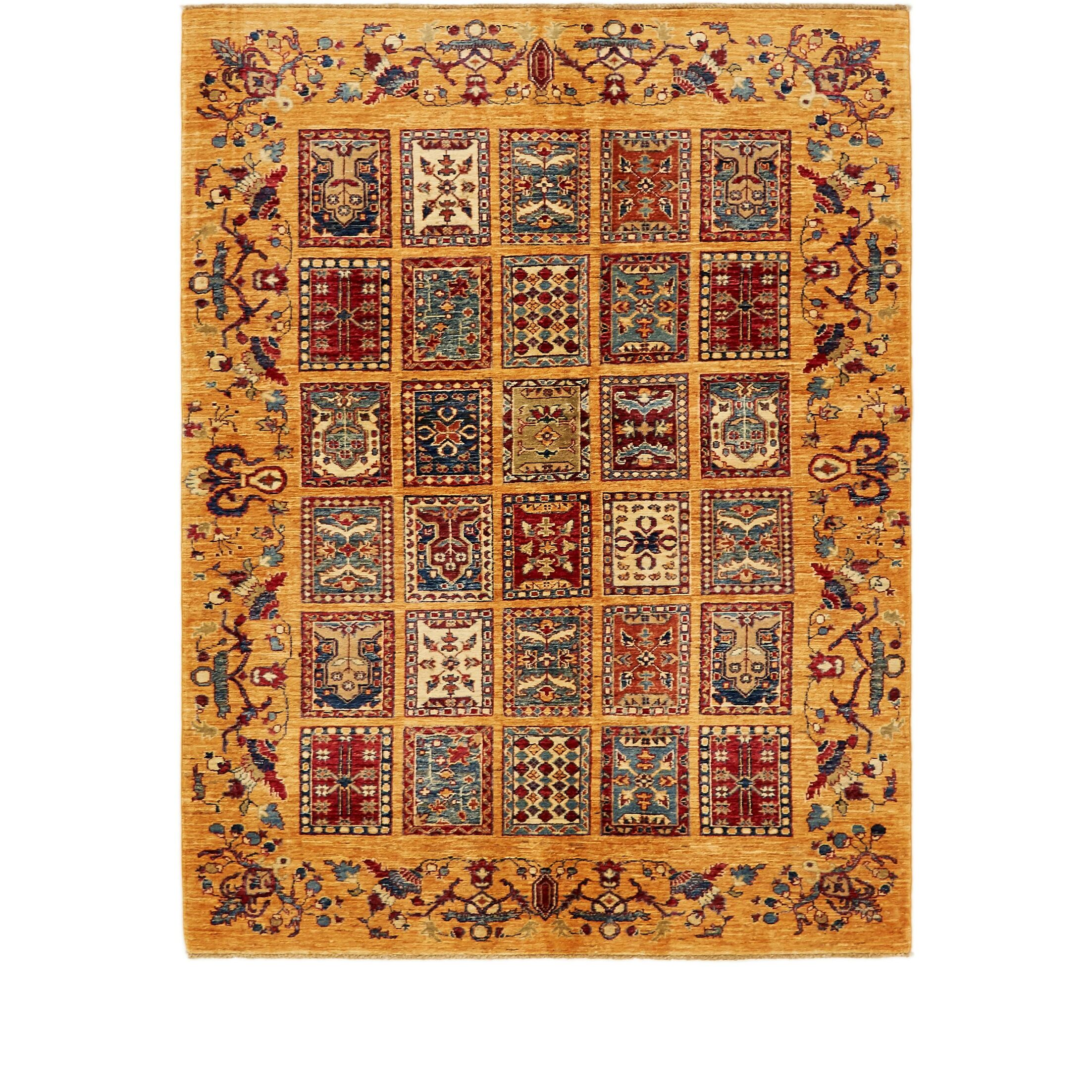 One-of-a-Kind Denver Hand-Knotted Wool Yellow/Red Area Rug