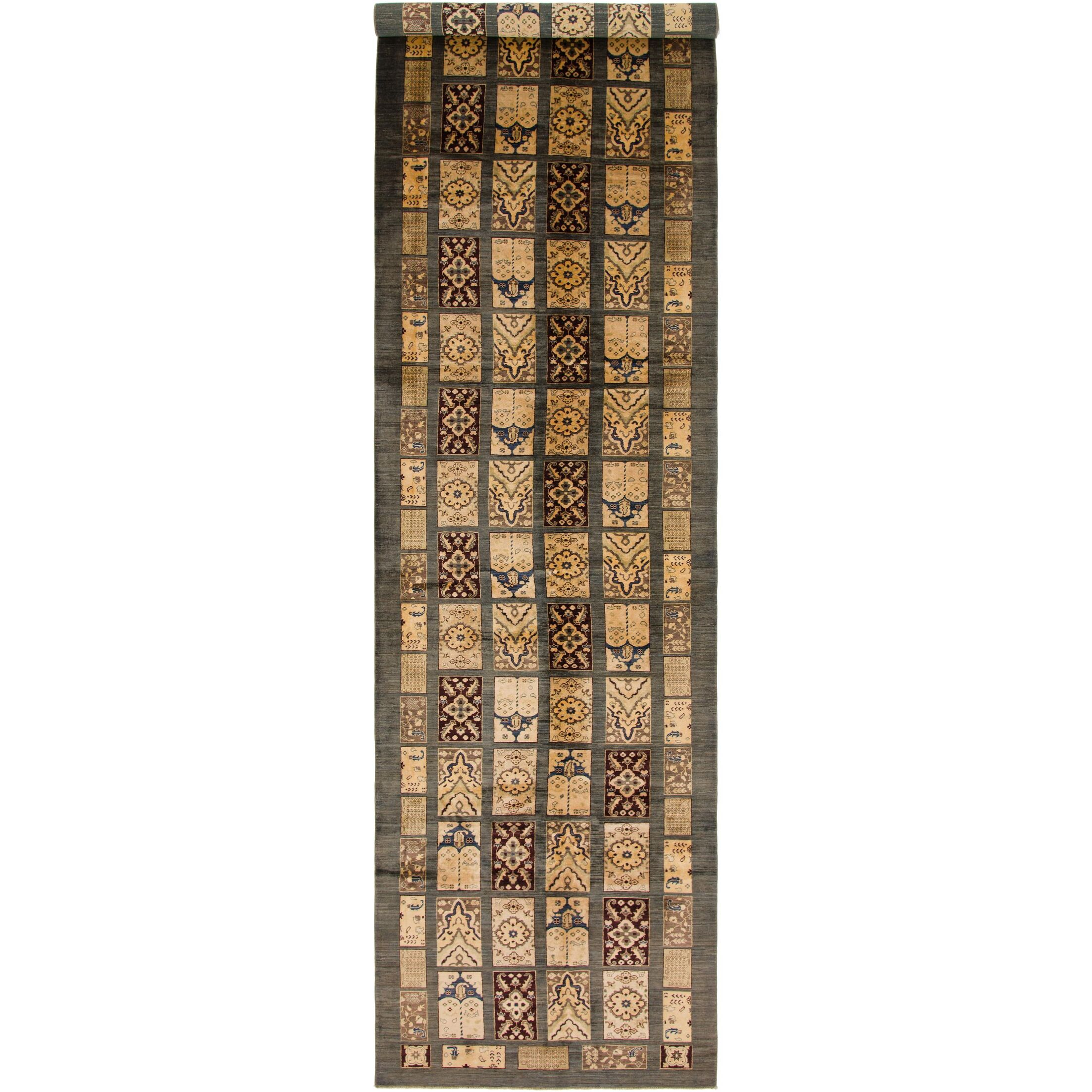 One-of-a-Kind Denver Hand-Knotted Wool Gray/Beige Area Rug
