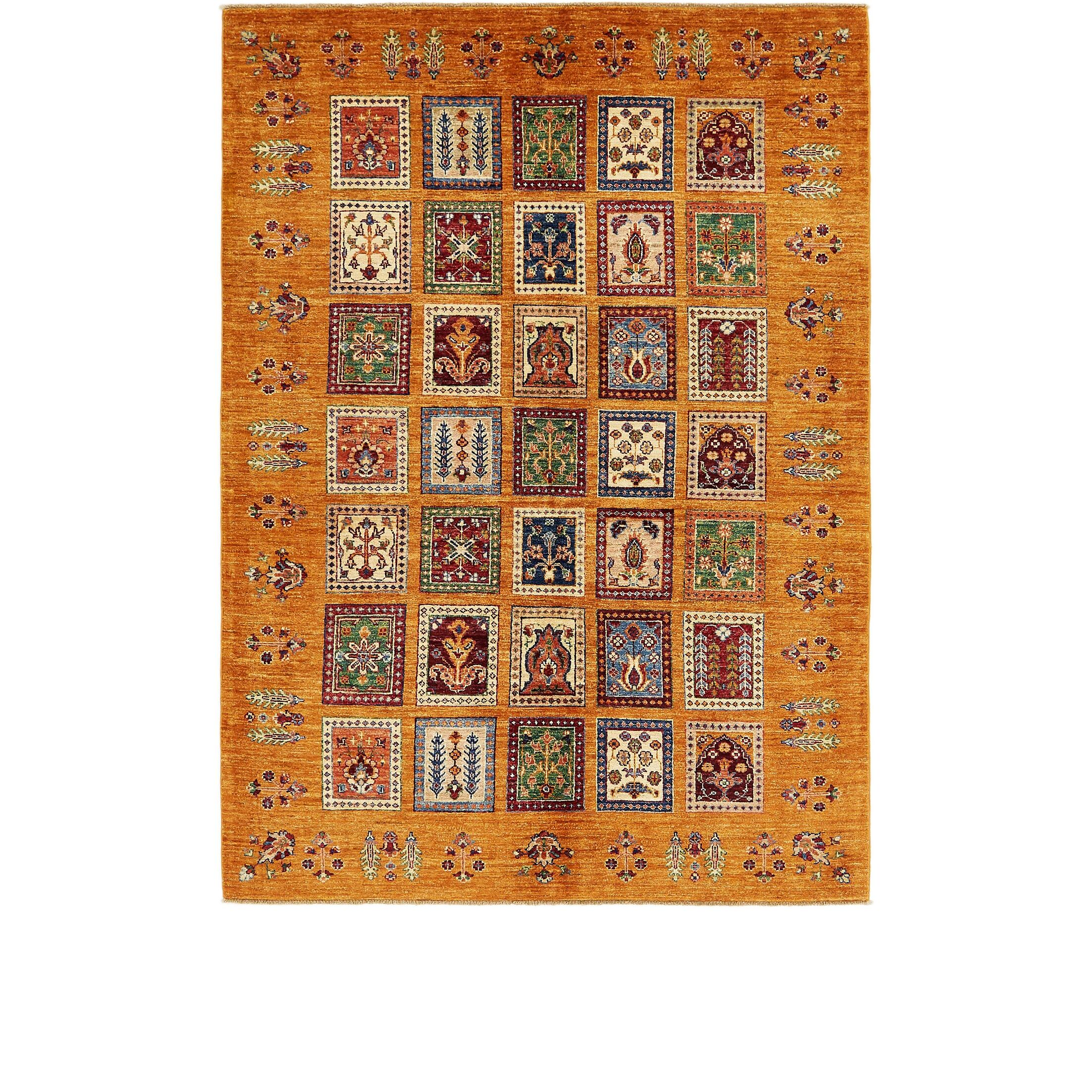 One-of-a-Kind Denver Hand-Knotted Wool Orange/Red Area Rug