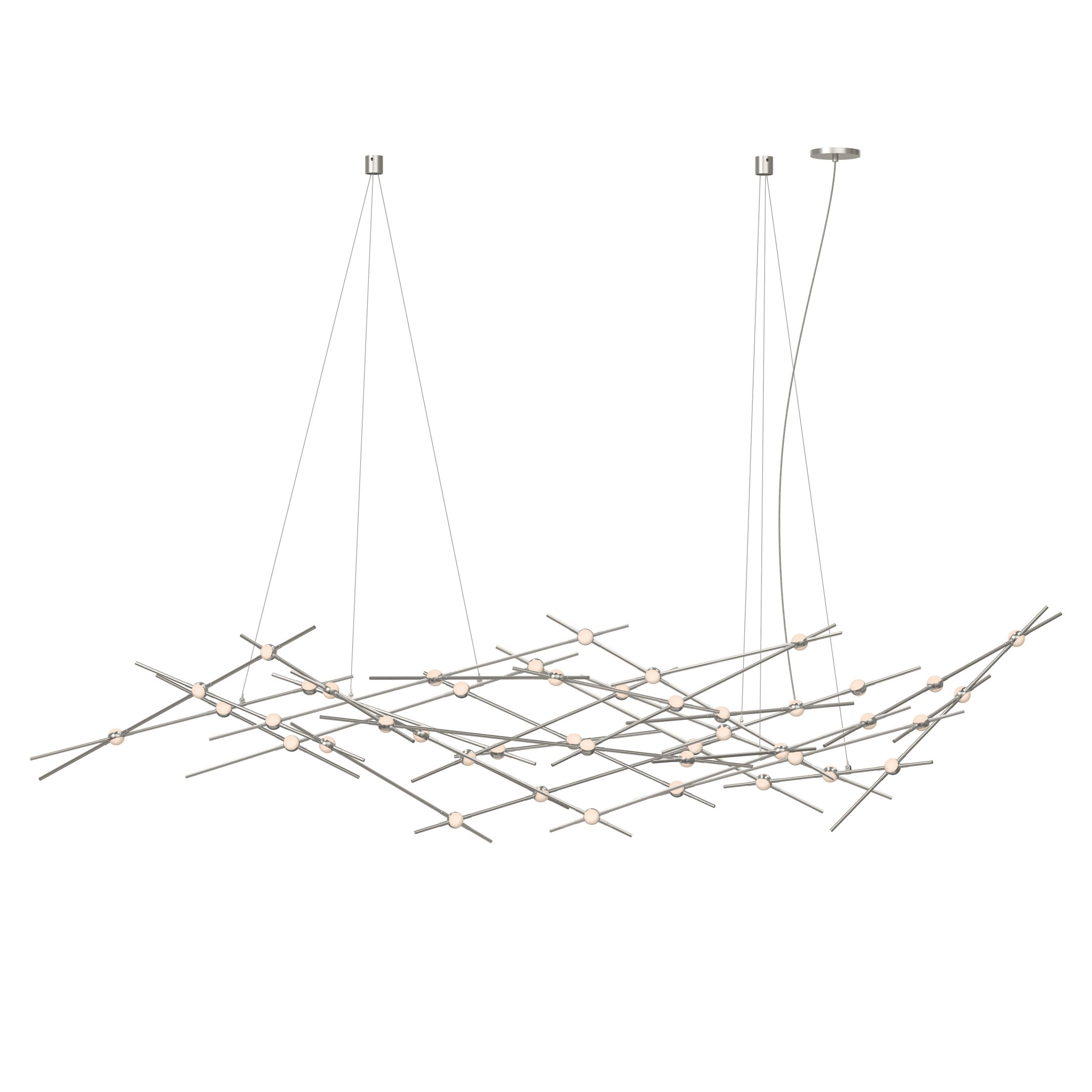 Constellation 44-Light LED Novelty Chandelier Shade Color: White Optical Acrylic