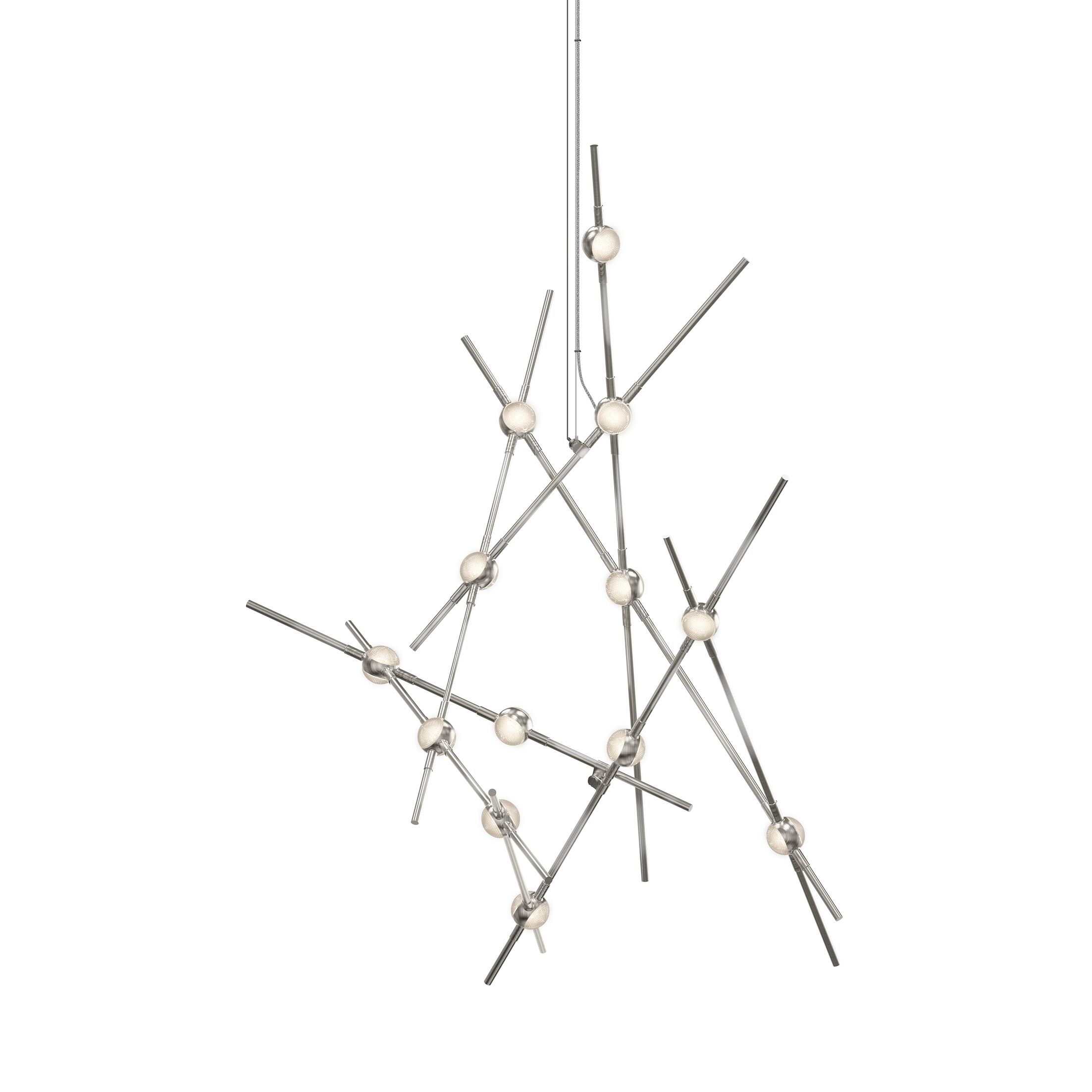 Constellation 13-Light LED Novelty Chandelier Shade Color: Clear Faceted Acrylic