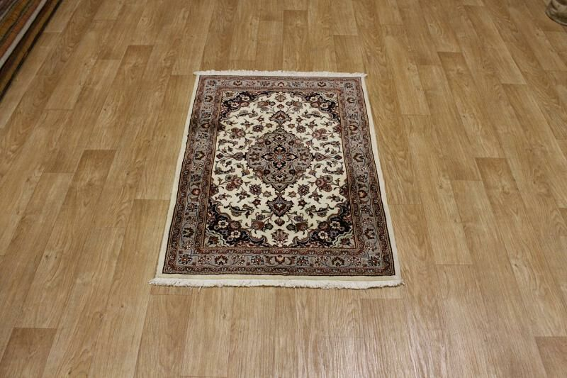 One-of-a-Kind Classical Tabriz Traditional Persian Hand-Knotted 3'4