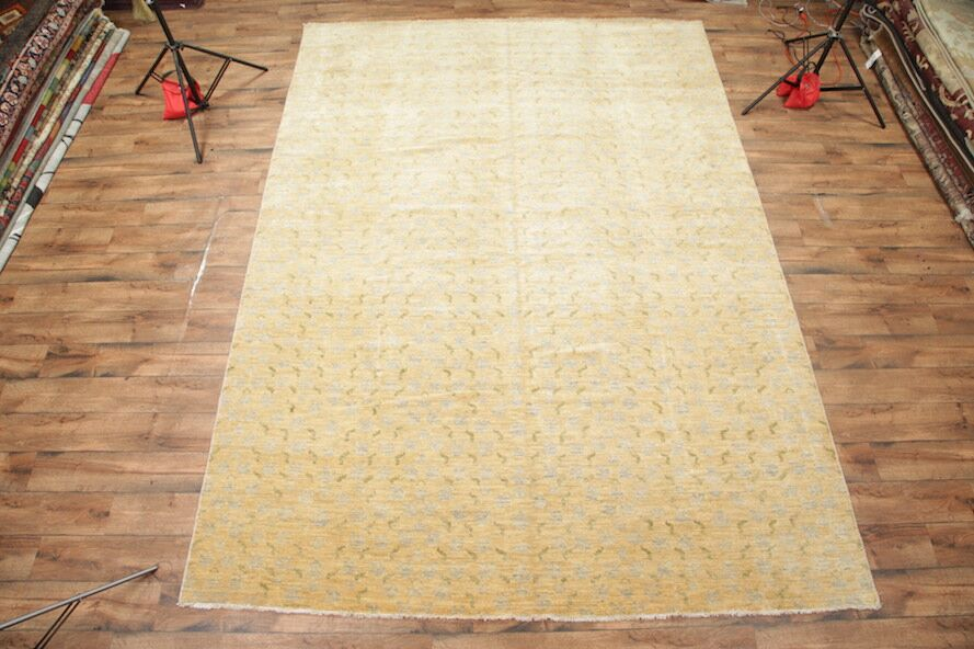 One-of-a-Kind Gannon Ikats Oushak Chobi Oriental Hand-Knotted Wool Beige Area Rug