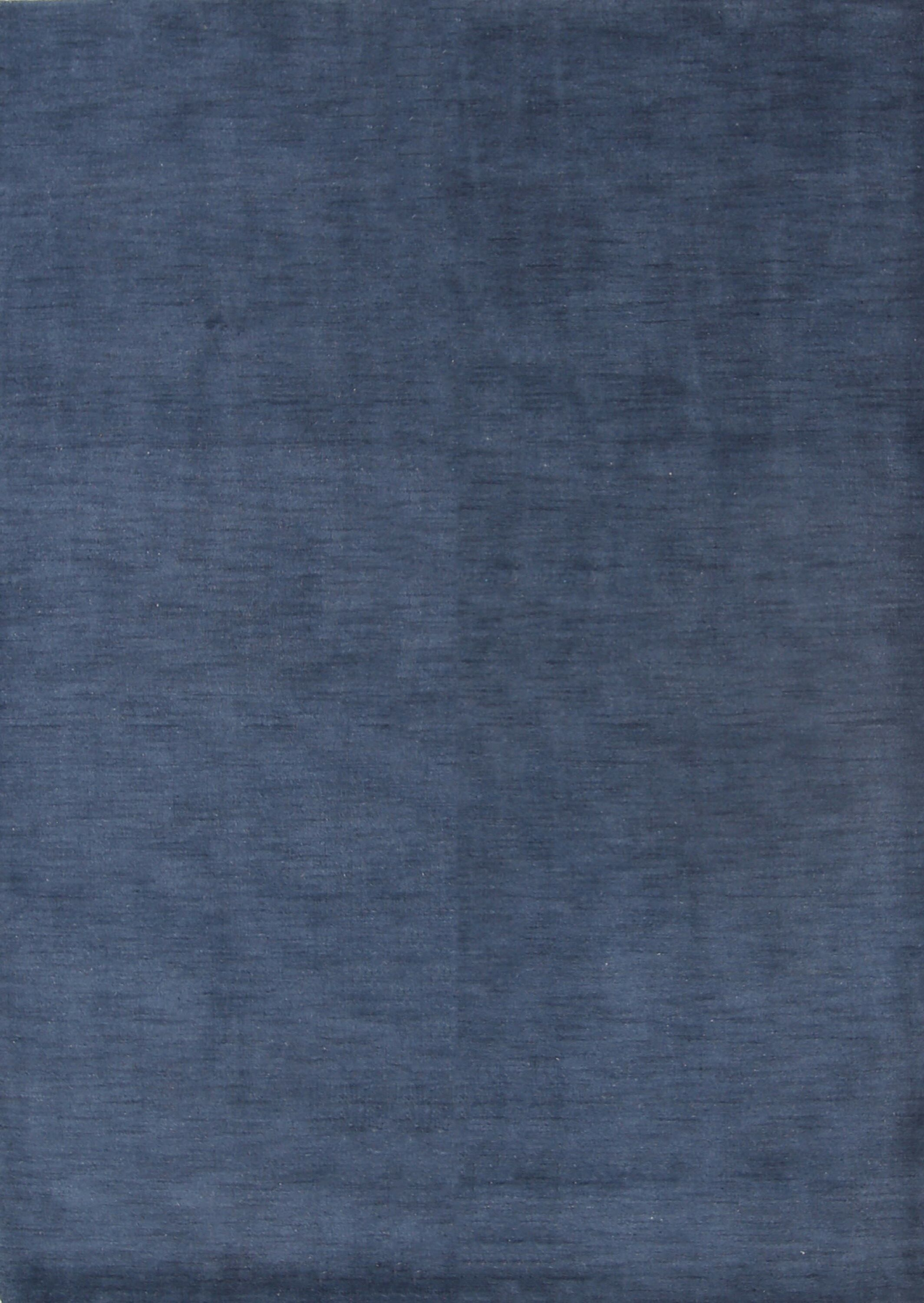 Fortune Oriental Hand-Woven Wool Blue Area Rug