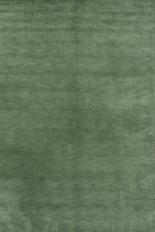 One-of-a-Kind Fortune Oriental Hand-Woven Wool Green Area Rug