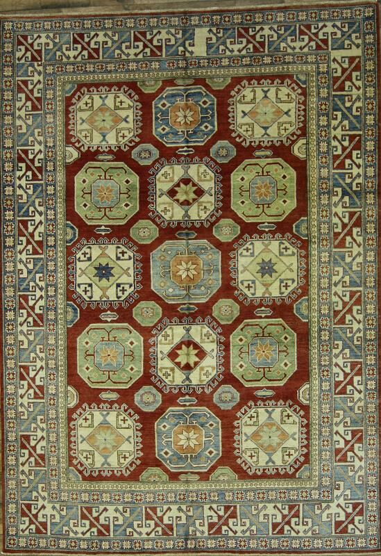 One-of-a-Kind Wagnon Oriental Hand-Knotted Wool Orange/Rust Area Rug